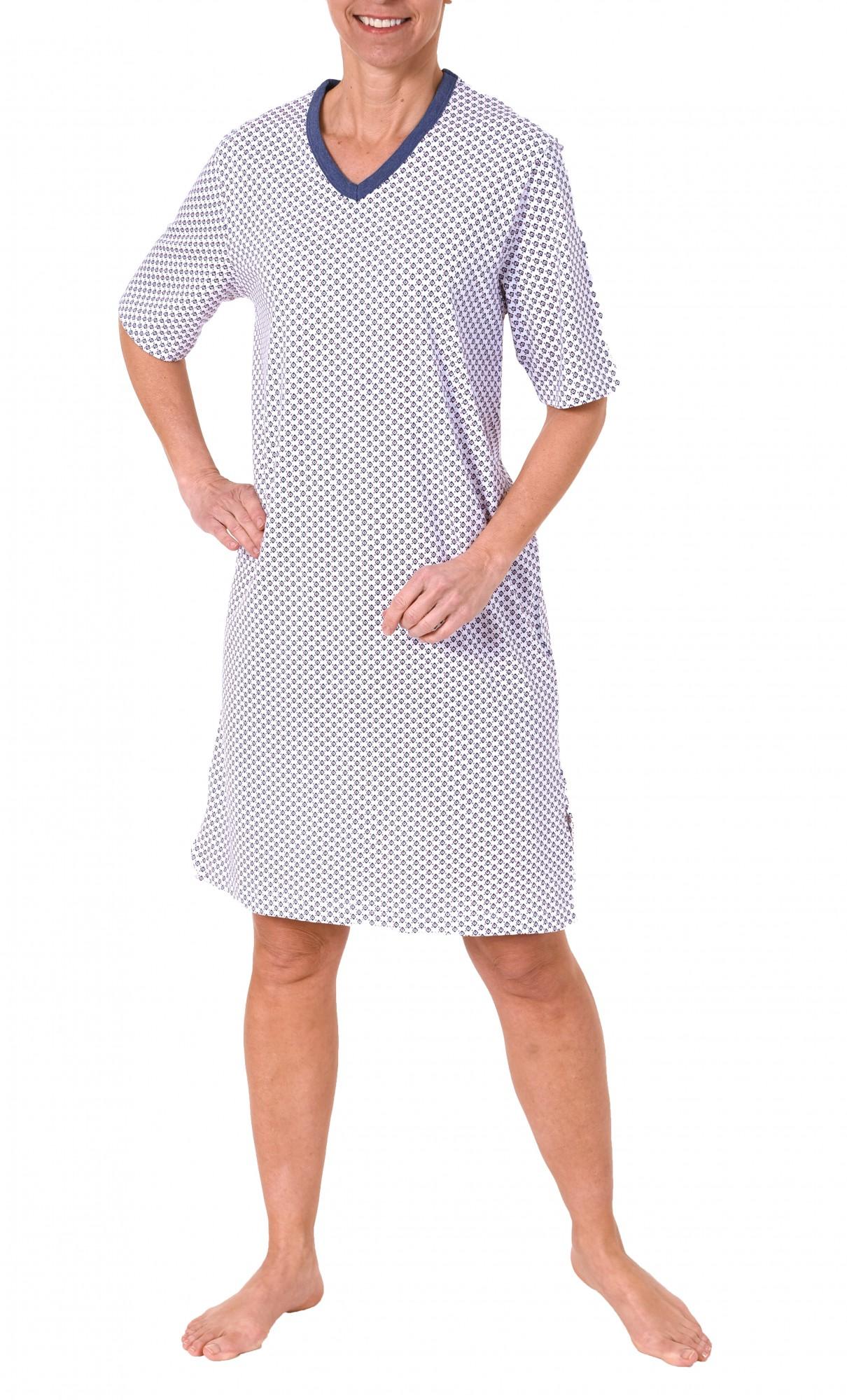 Damen Nachthemd Bigshirt kurzarm mit wunderschönen Minimalprint – 171 213 90 839 – Bild 2