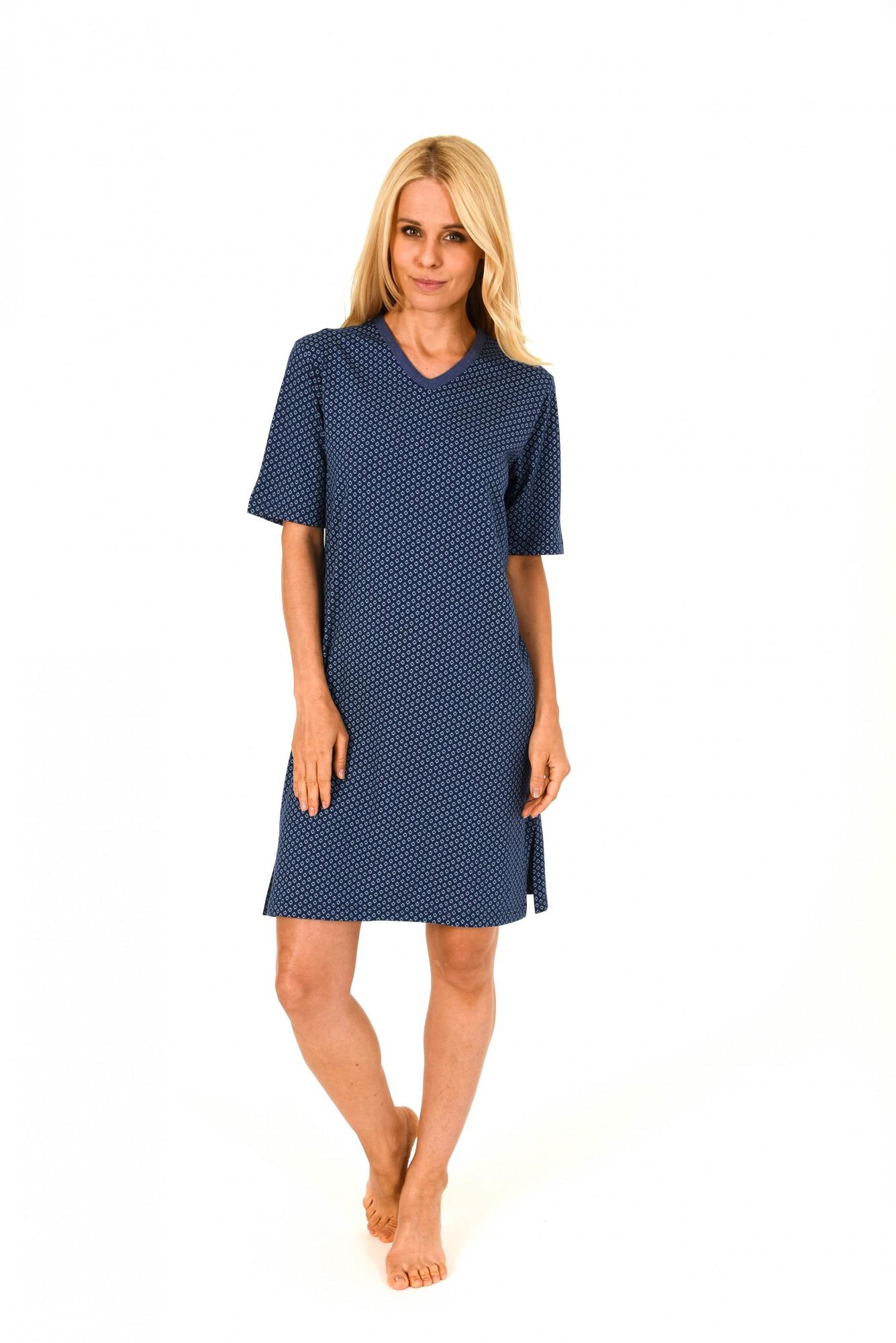 Damen Nachthemd Bigshirt kurzarm mit wunderschönen Minimalprint – 171 213 90 839 – Bild 1