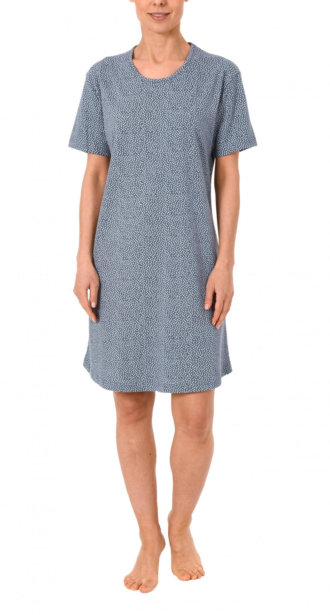 Damen Bigshirt kurzarm Nachthemd mit Minimalprint – 171 213 90 904 – Bild 2