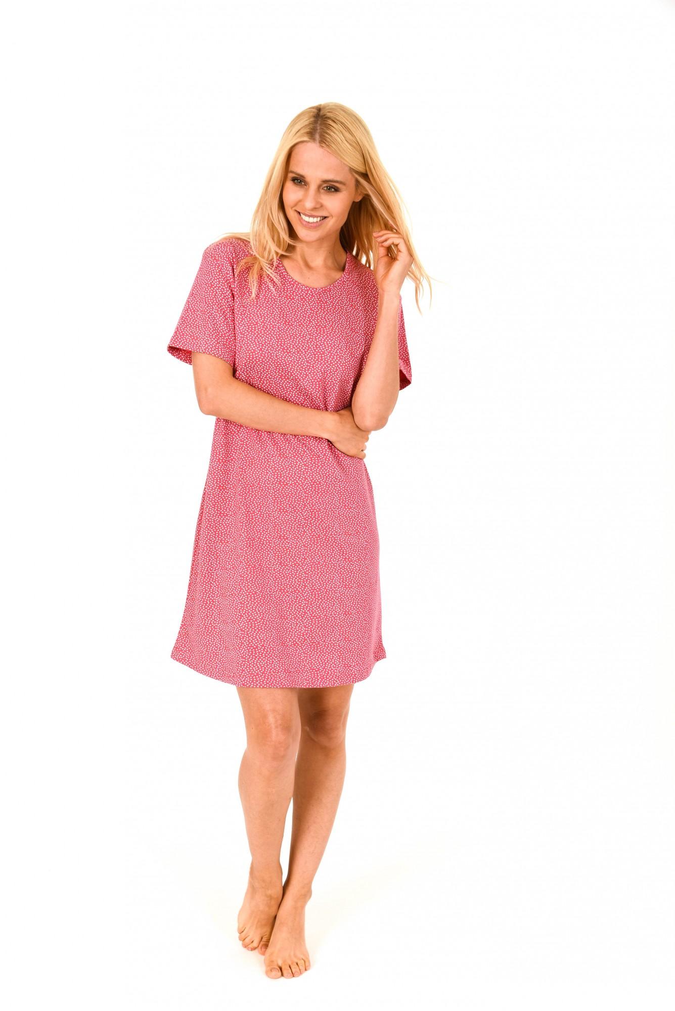 Damen Bigshirt kurzarm Nachthemd mit Minimalprint – 171 213 90 904