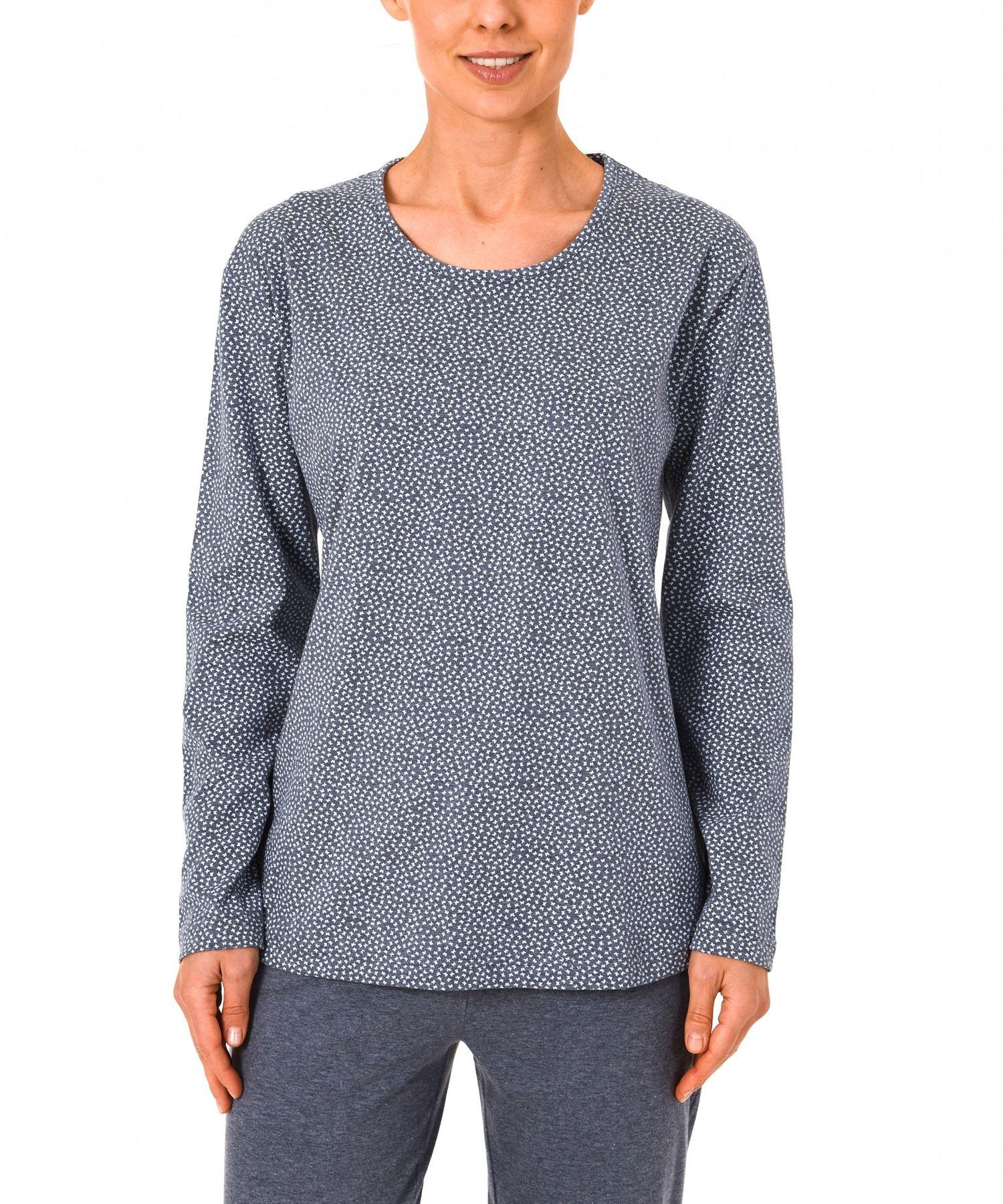 Damen Shirt  Oberteil - langarm Mix & Match Minimalprint – 171 219 90 904 – Bild 2