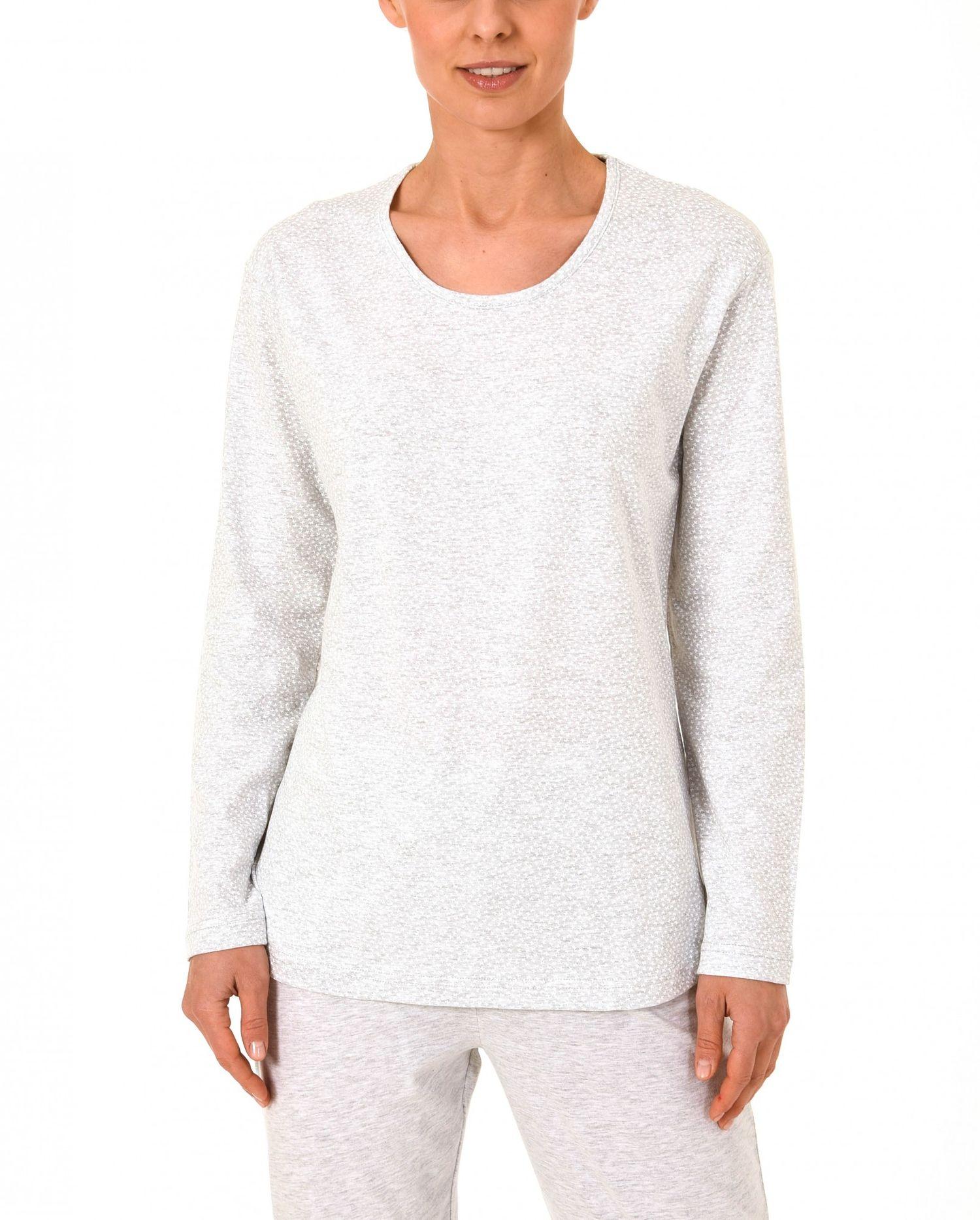 Damen Shirt  Oberteil - langarm Mix & Match Minimalprint – 171 219 90 904 – Bild 3