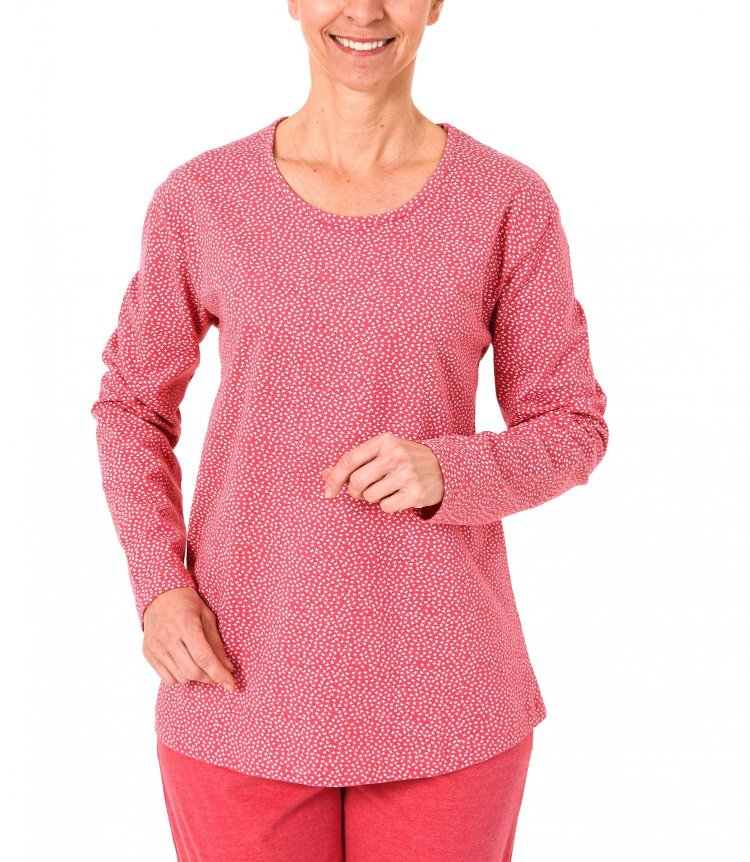 Damen Shirt  Oberteil - langarm Mix & Match Minimalprint – 171 219 90 904 – Bild 1