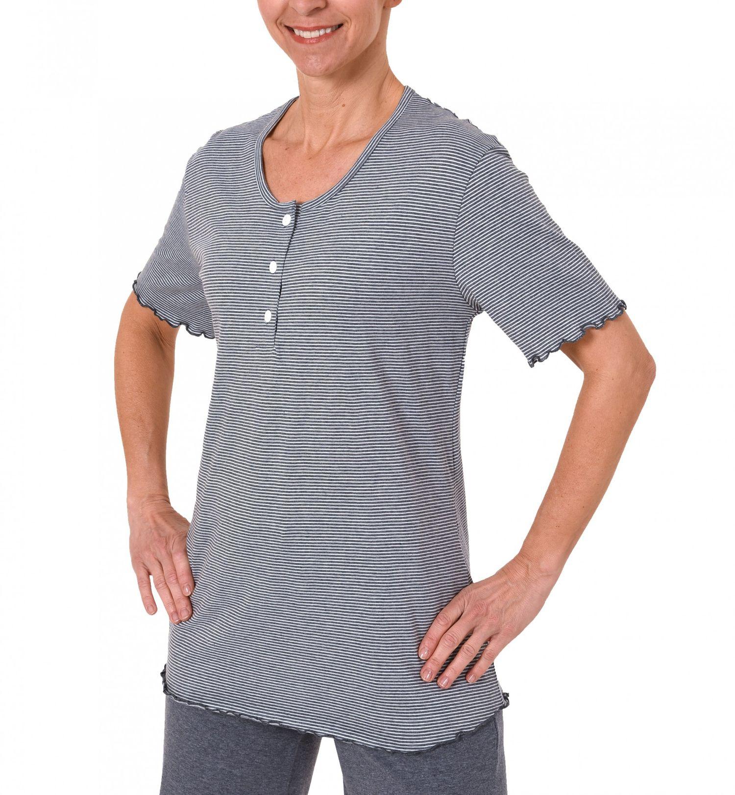 Damen Shirt  Oberteil - kurzarm Mix & Match Streifendessin – 171 220 90 903 – Bild 1