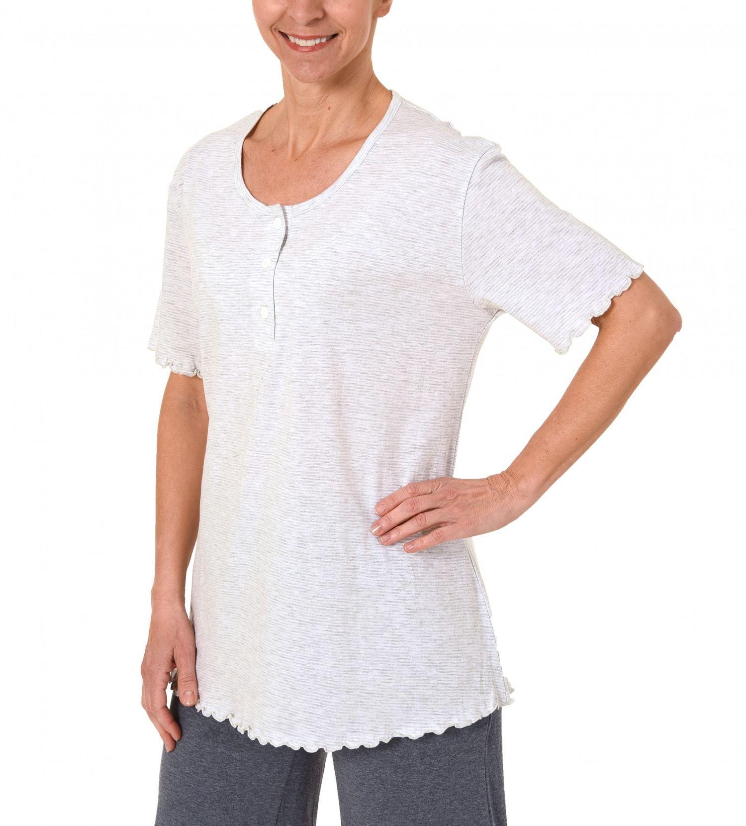 Damen Shirt  Oberteil - kurzarm Mix & Match Streifendessin – 171 220 90 903 – Bild 2