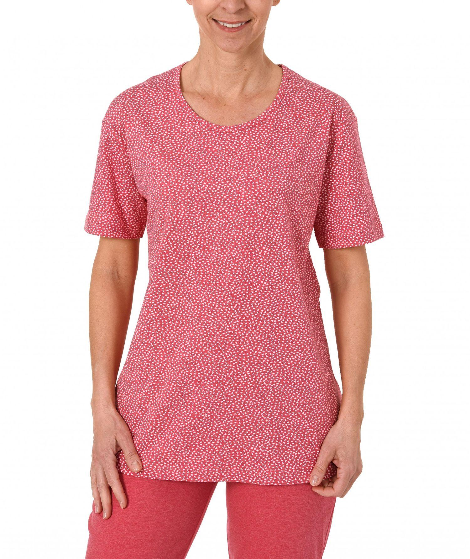Damen Shirt  Oberteil - kurzarm Mix & Match Minimalprint – 171 220 90 904 – Bild 1