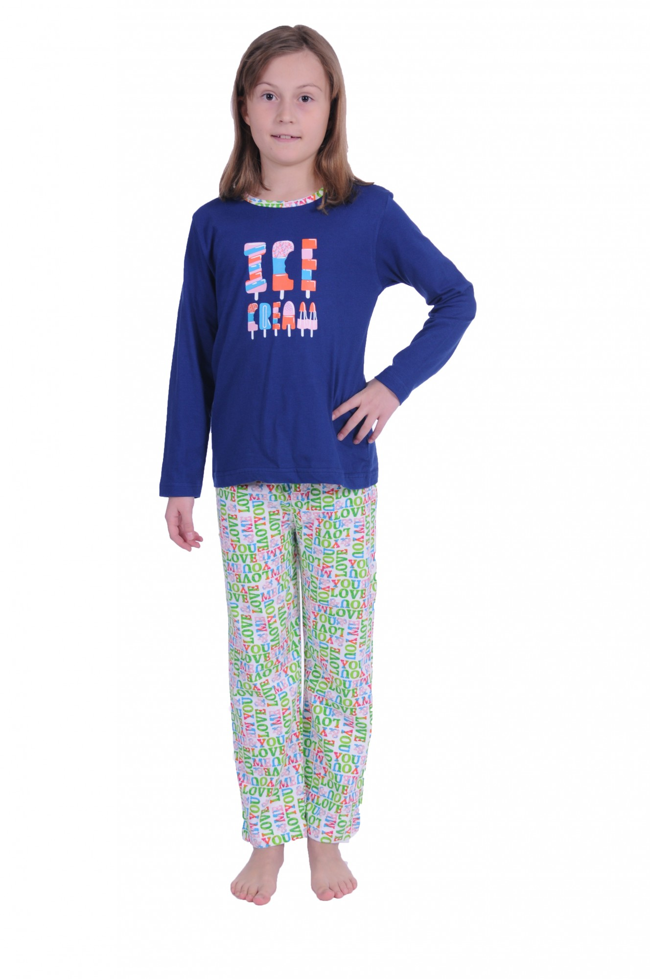 feeeeb5ff4 Cooler Mädchen Kinder Pyjama langarm in tollen Farben 171 401 90 842 ...