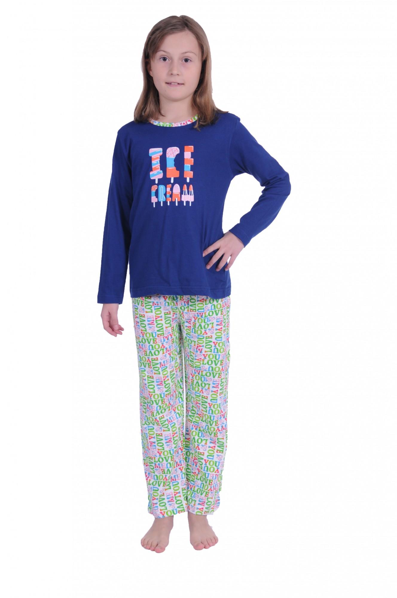 Cooler Mädchen Kinder Pyjama langarm in tollen Farben 171 401 90 842 – Bild 1