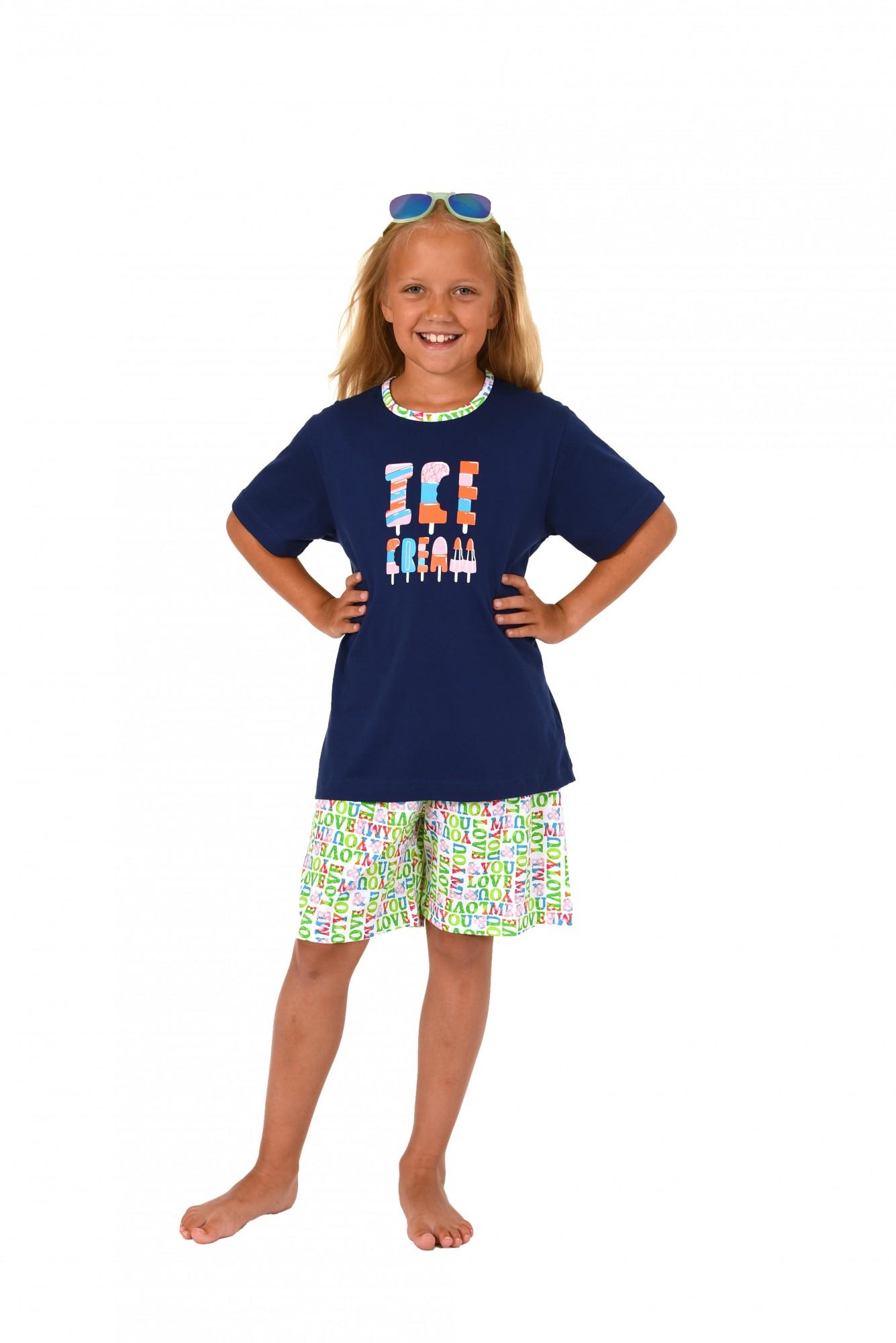 Cooler Mädchen Kinder Pyjama Shorty kurzarm in tollen Farben 171 405 90 842 – Bild 2