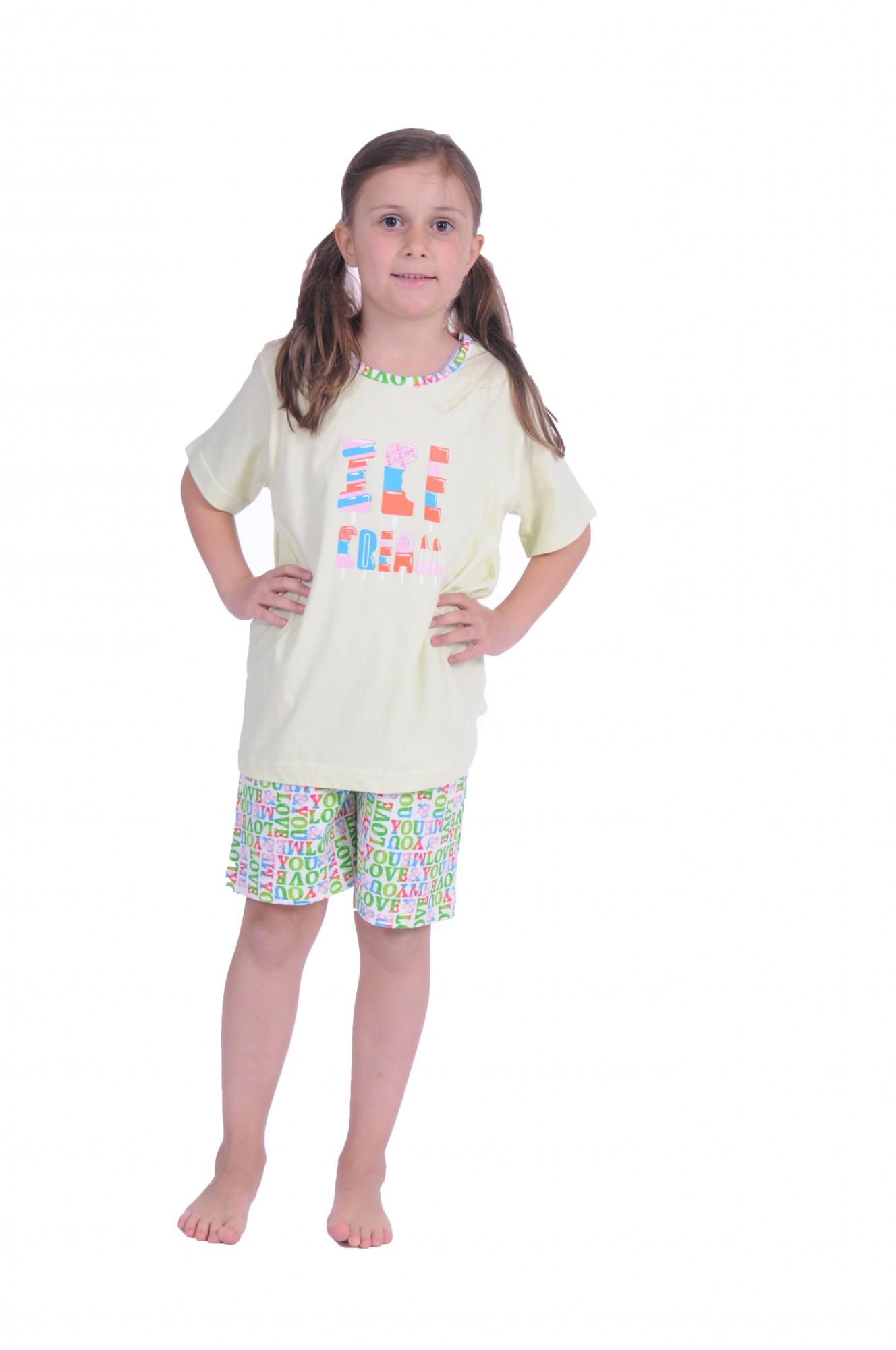 Cooler Mädchen Kinder Pyjama Shorty kurzarm in tollen Farben 171 405 90 842 – Bild 1