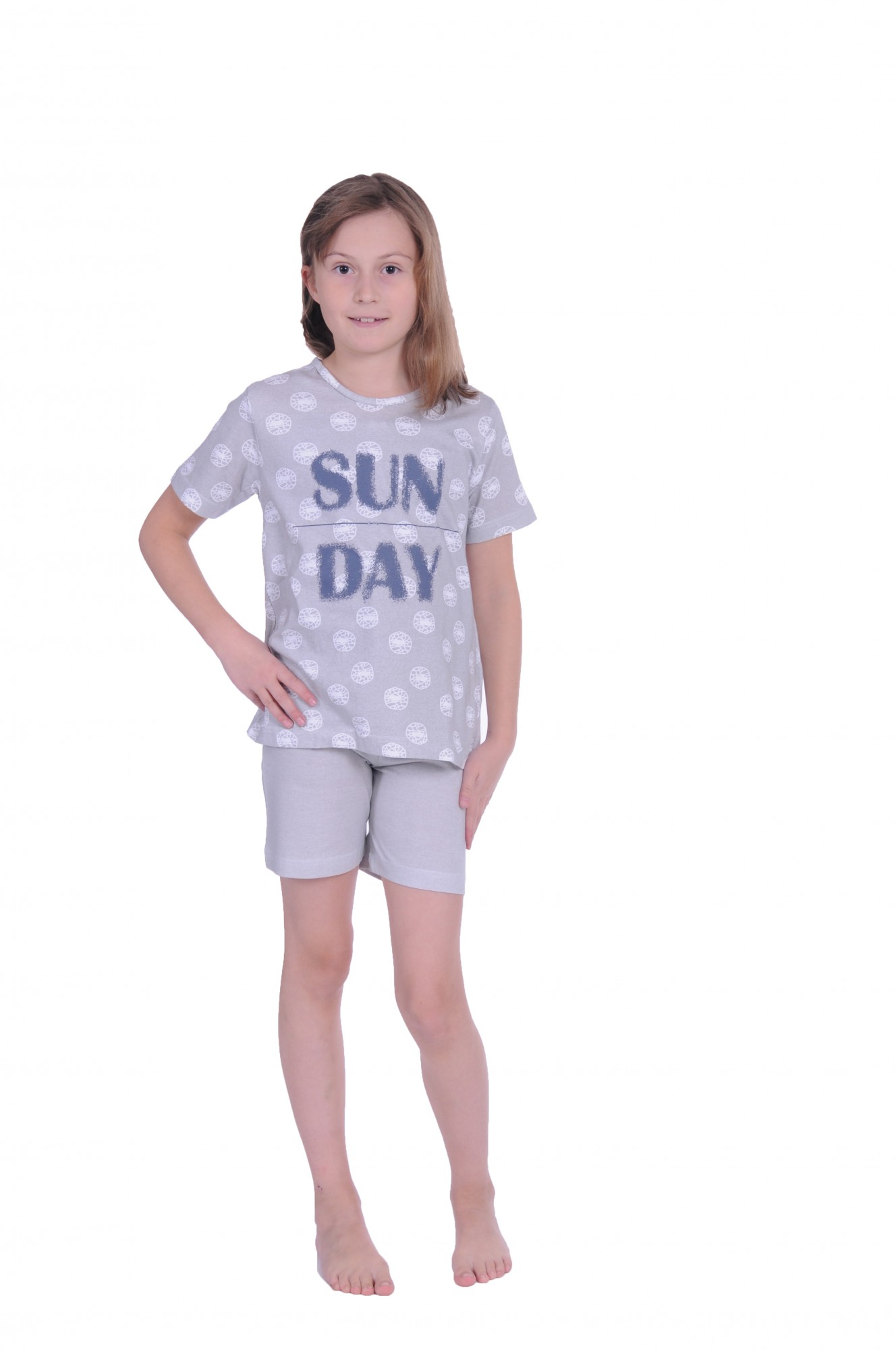 b247221569 Mädchen Kinder Shorty Pyjama kurzarm Schlafanzug mit kurzer Hose 171 405 90  879