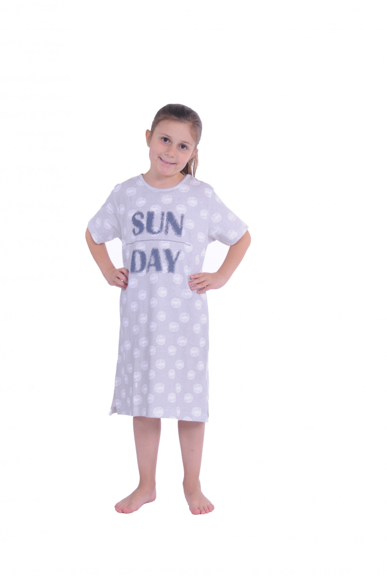Mädchen Kinder Nachthemd kurzarm 171 410 90 879 – Bild 1