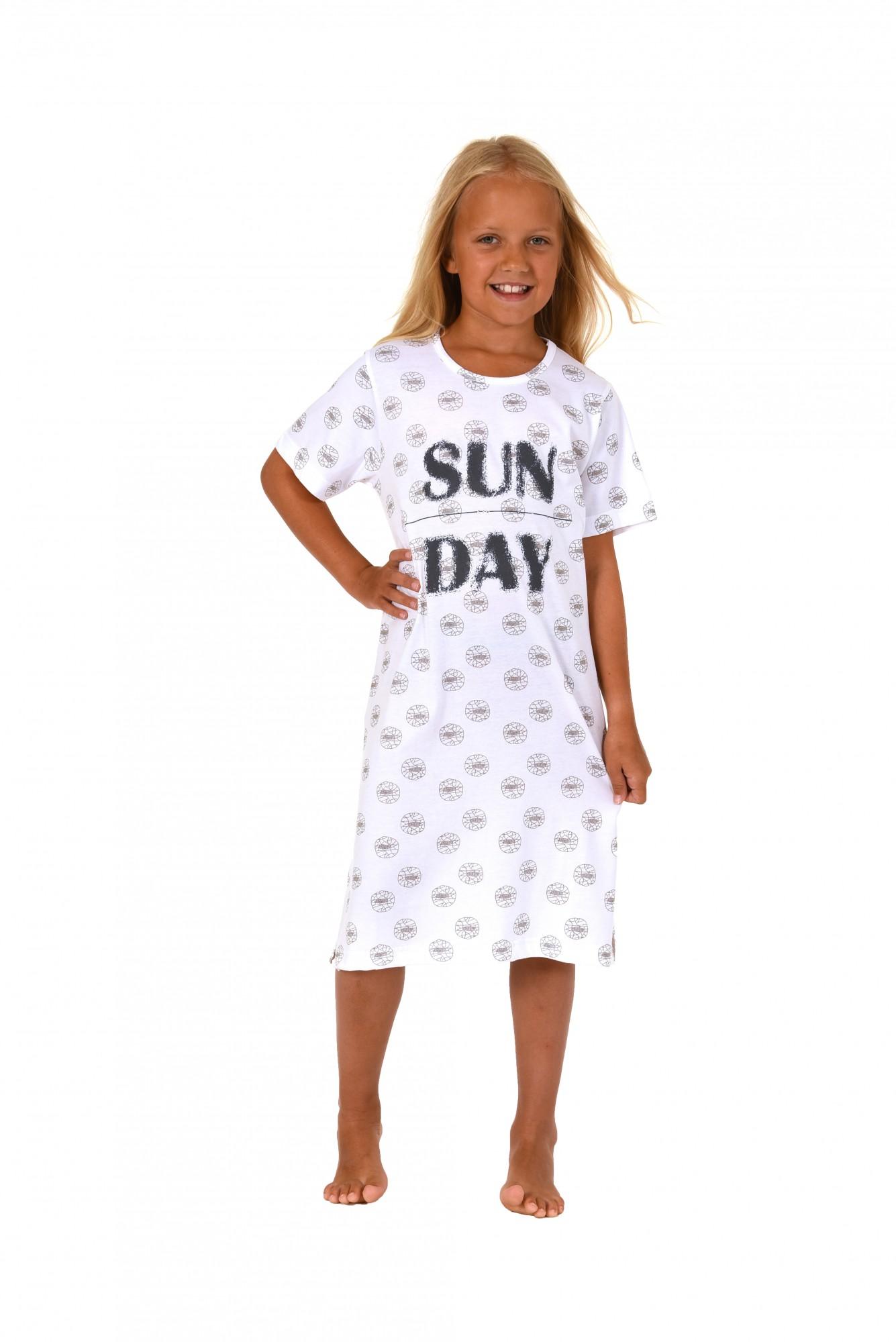 Mädchen Kinder Nachthemd kurzarm 171 410 90 879 – Bild 2