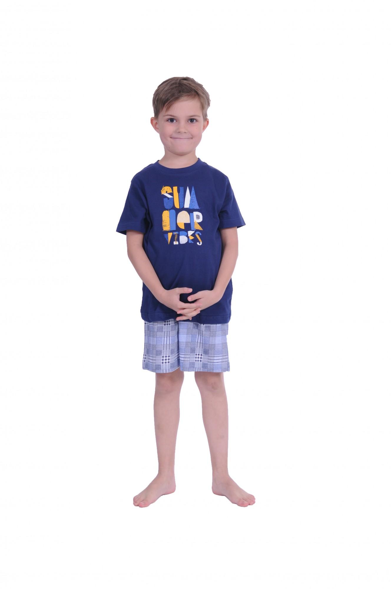 Jungen  Shorty Pyjama kurzarm und  karierte Hose 171 505 90 601 – Bild 1