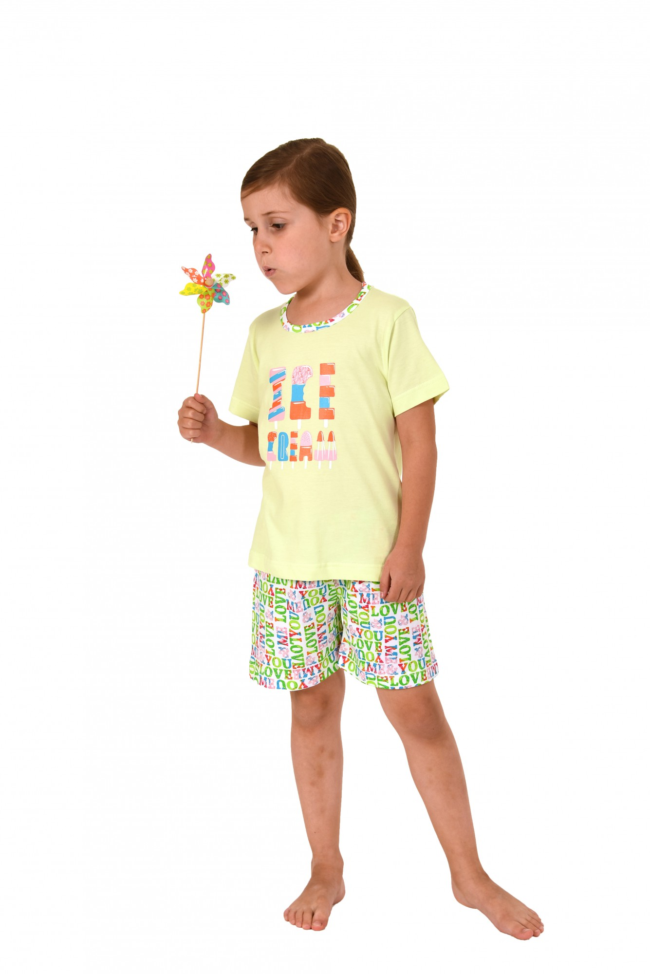 Kleinkinder Mädchen Pyjama kurzarm in toller Optik 171 705 90 842 – Bild 2