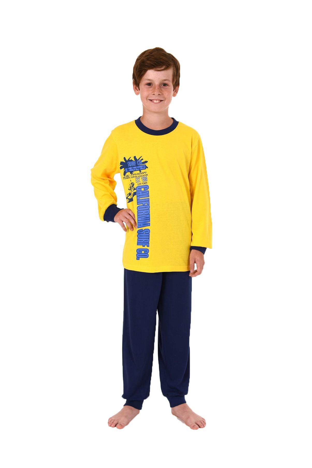 Cooler Jungen Pyjama langam mit Bündchen 58411 – Bild 1
