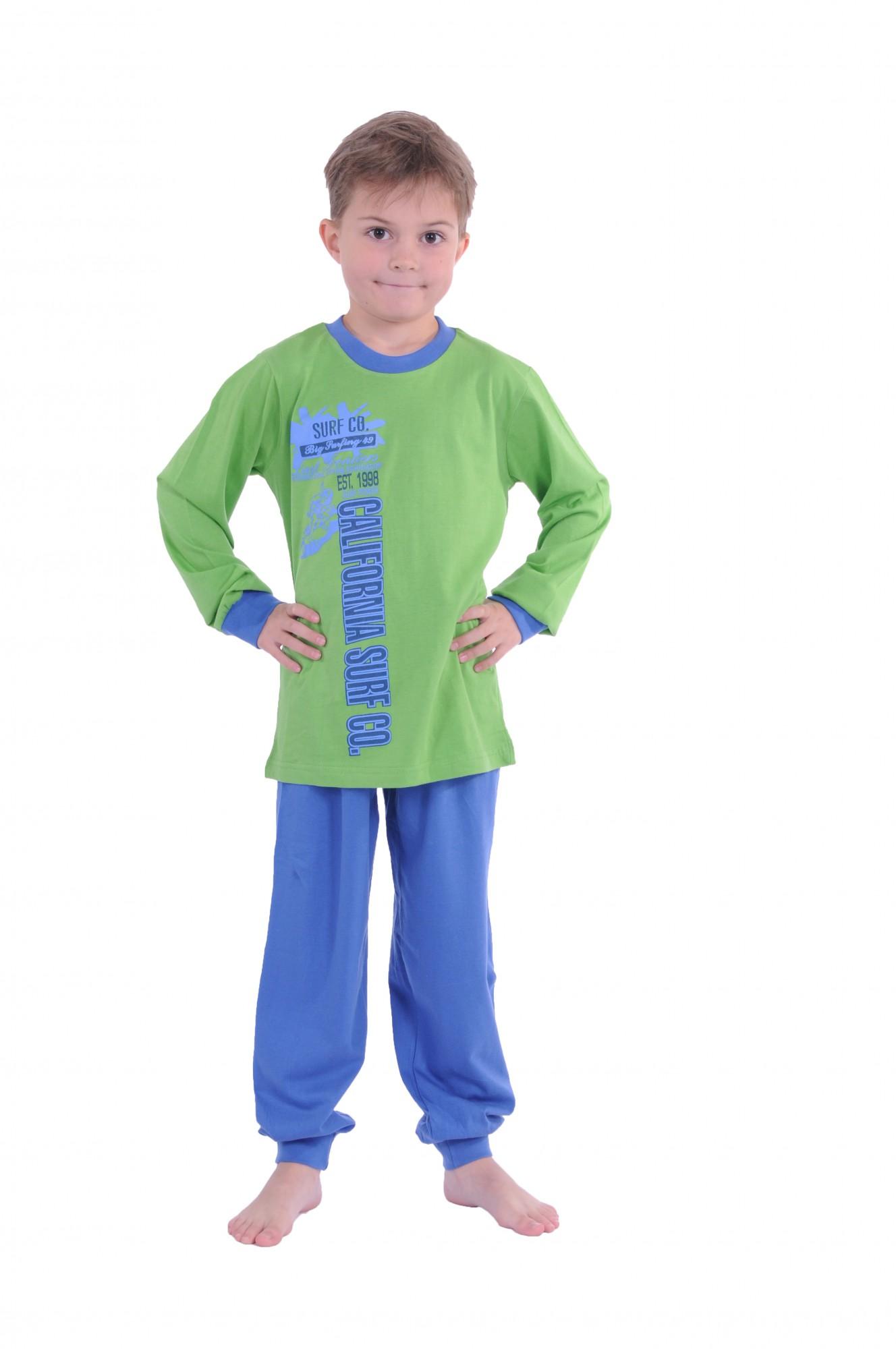 Cooler Jungen Pyjama langam mit Bündchen 58411 – Bild 2