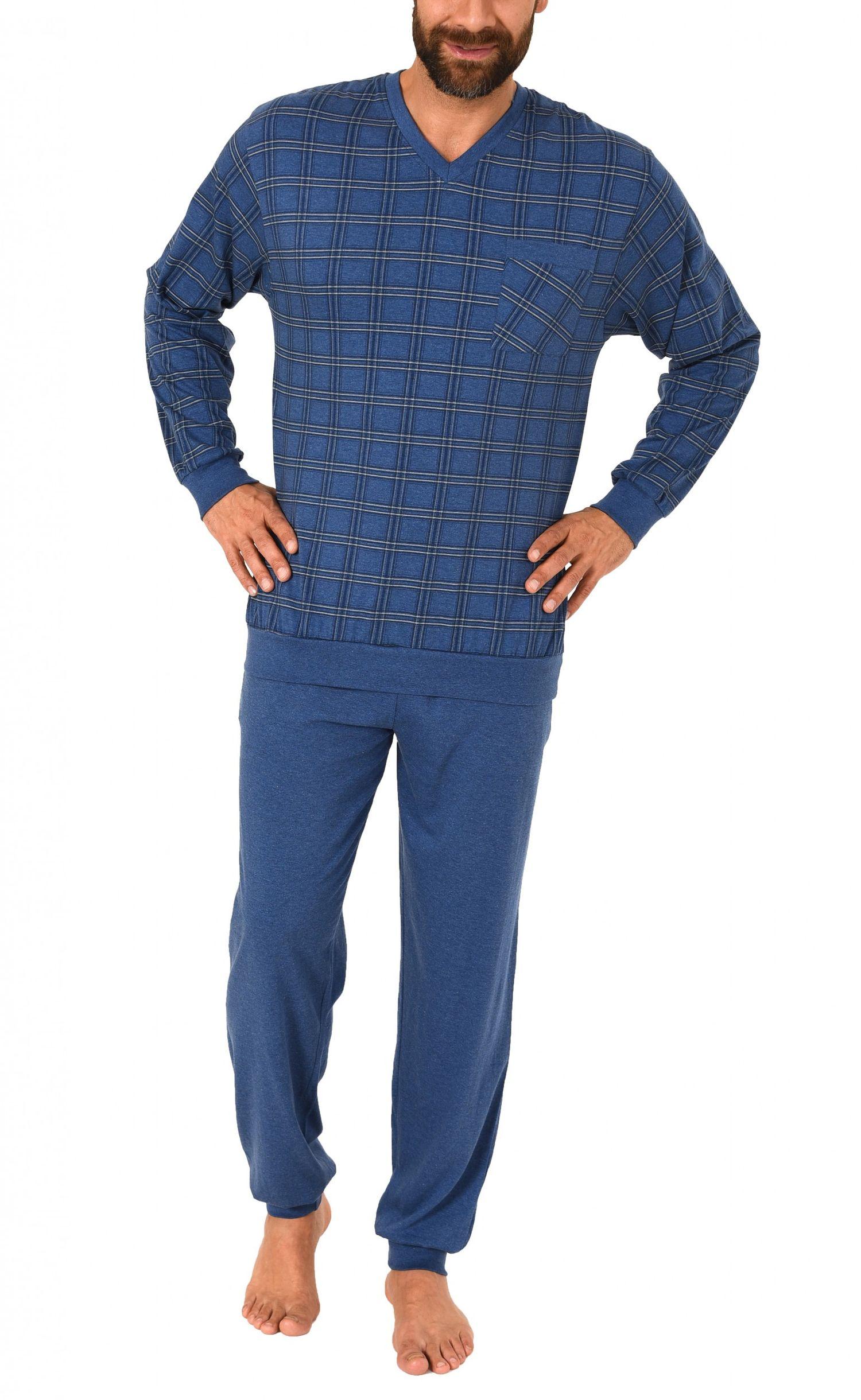 Eleganter Herren Pyjama Schlafanzug mit Bündchen – auch in Übergrössen – 271 101 90 453 – Bild 2
