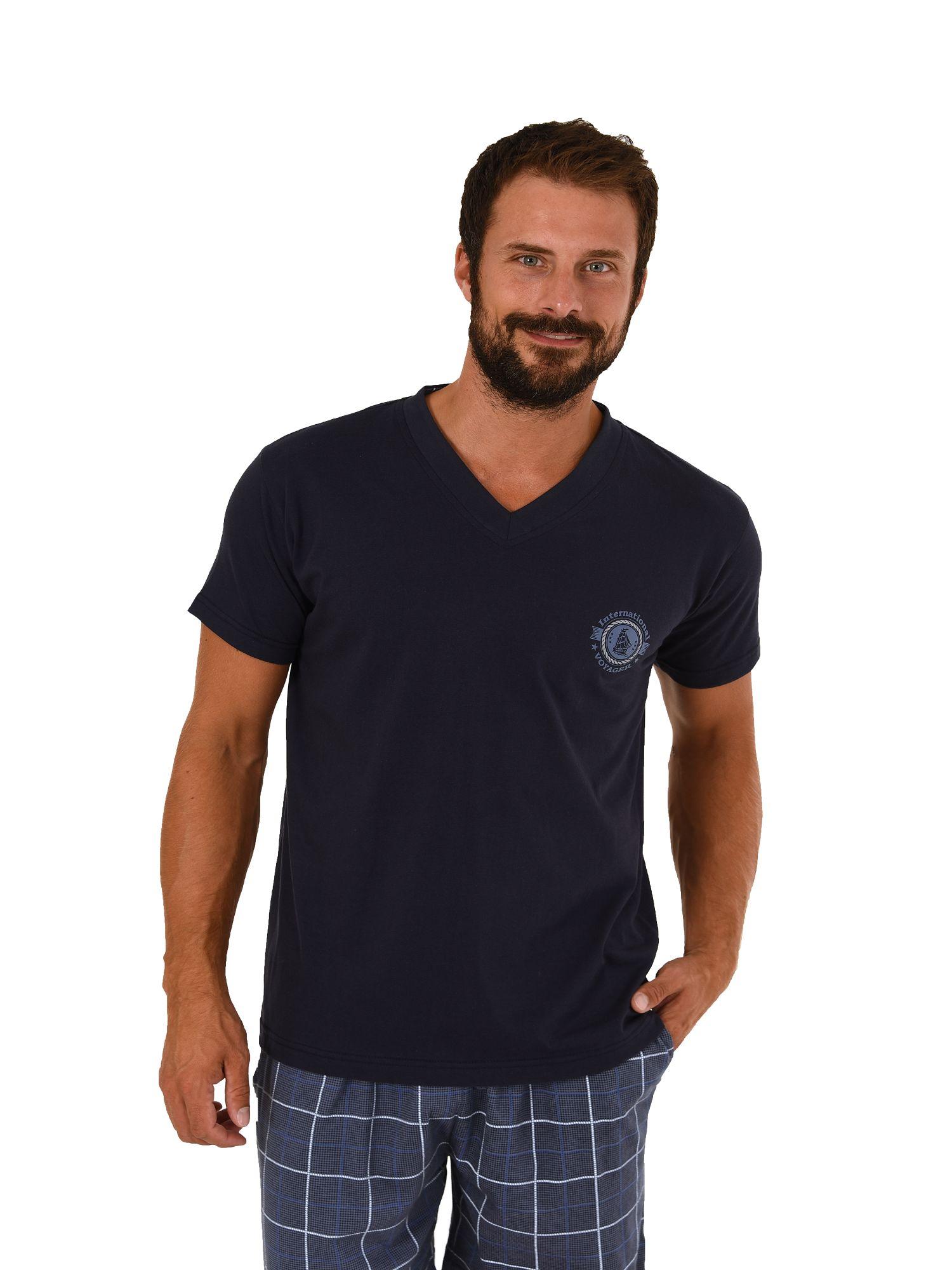 Herren Shirt - Oberteil kurzarm Mix & Match marine oder schwarz – 271 120 90 522 – Bild 1