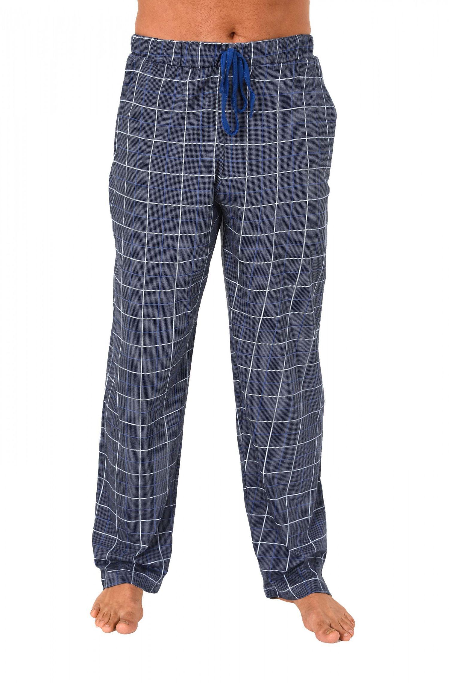 Herren Pyjama Hose lang – Mix & Match – Karo Optik – 122 90 524 – Bild 3