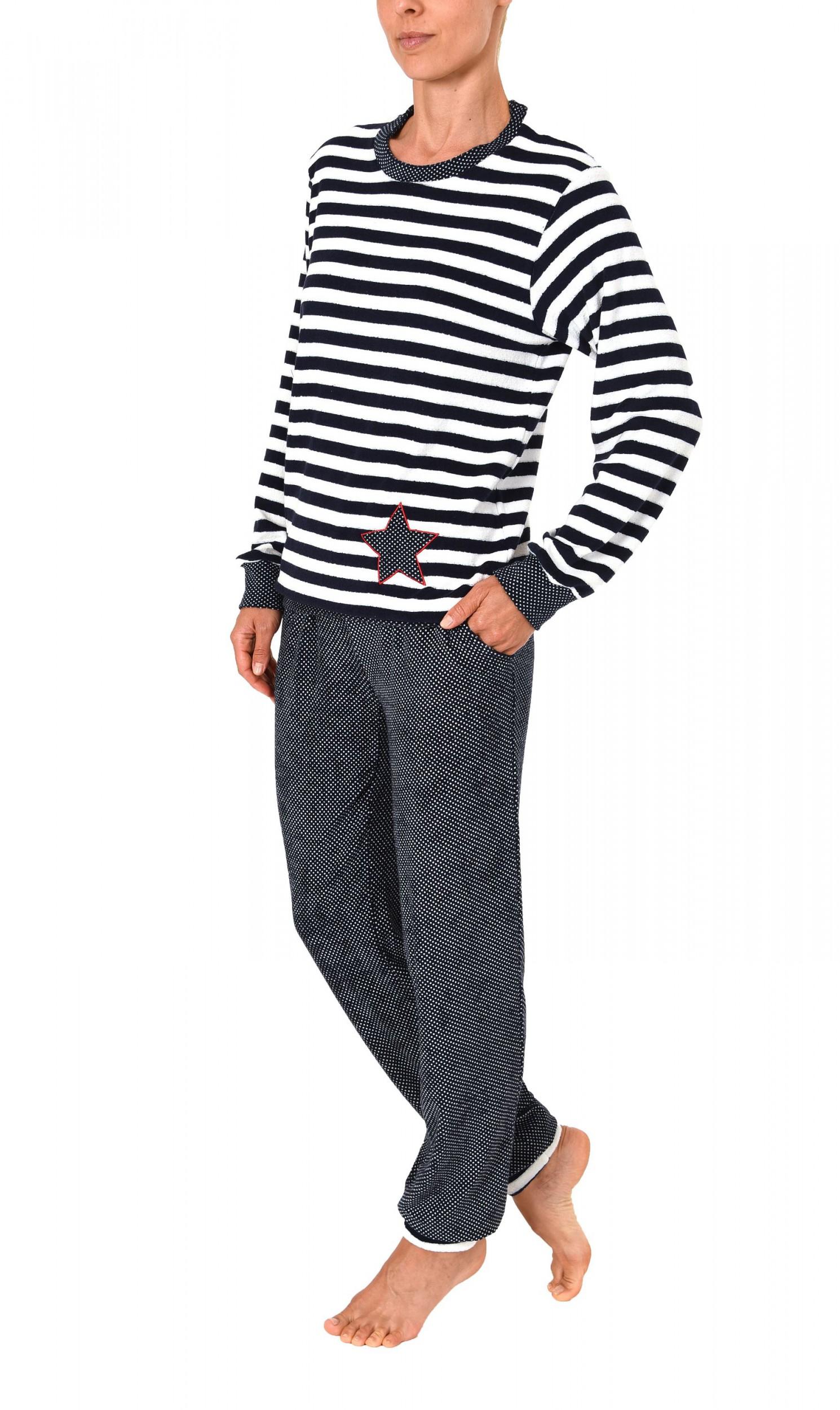 Damen Frottee Pyjama lang mit Bündchen – auch in Übergrössen  bis 60/62- 271 201 93 200 – Bild 3