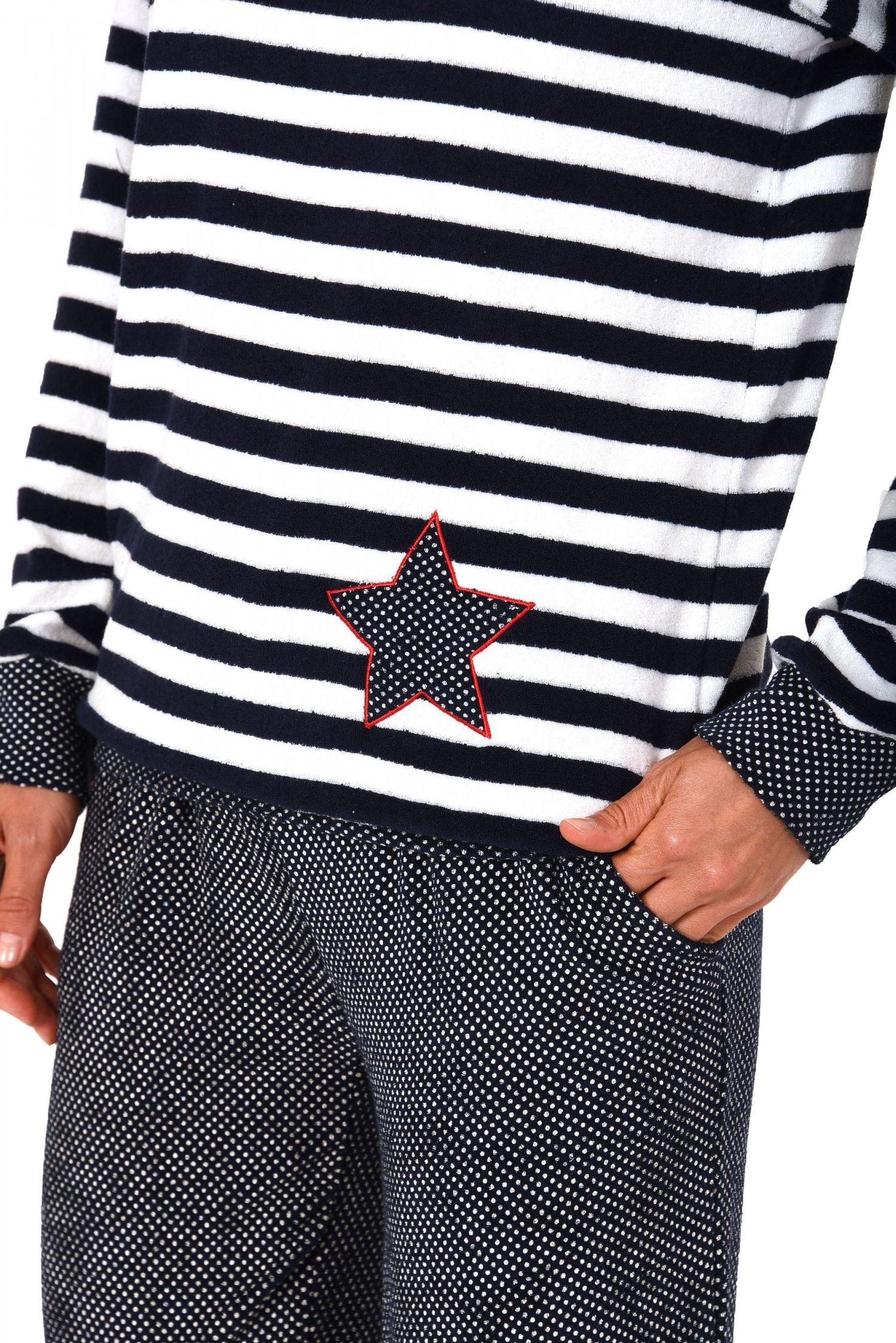 Damen Frottee Pyjama lang mit Bündchen – auch in Übergrössen  bis 60/62- 271 201 93 200 – Bild 4