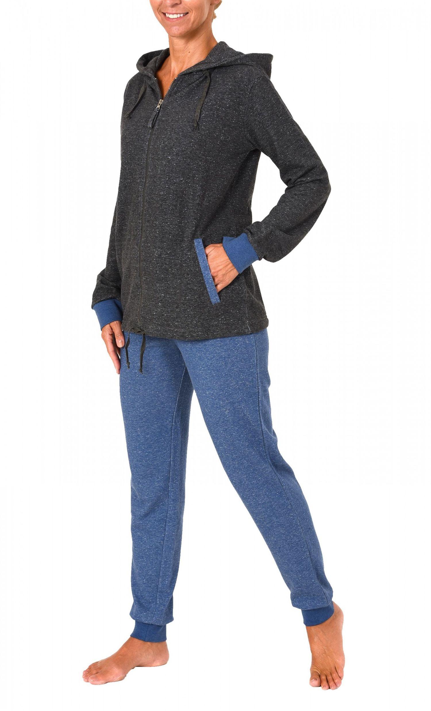 Chilliger Damen French Terry Hausanzug Homewear – auch in Übergrössen – 271 216 99 444 – Bild 3