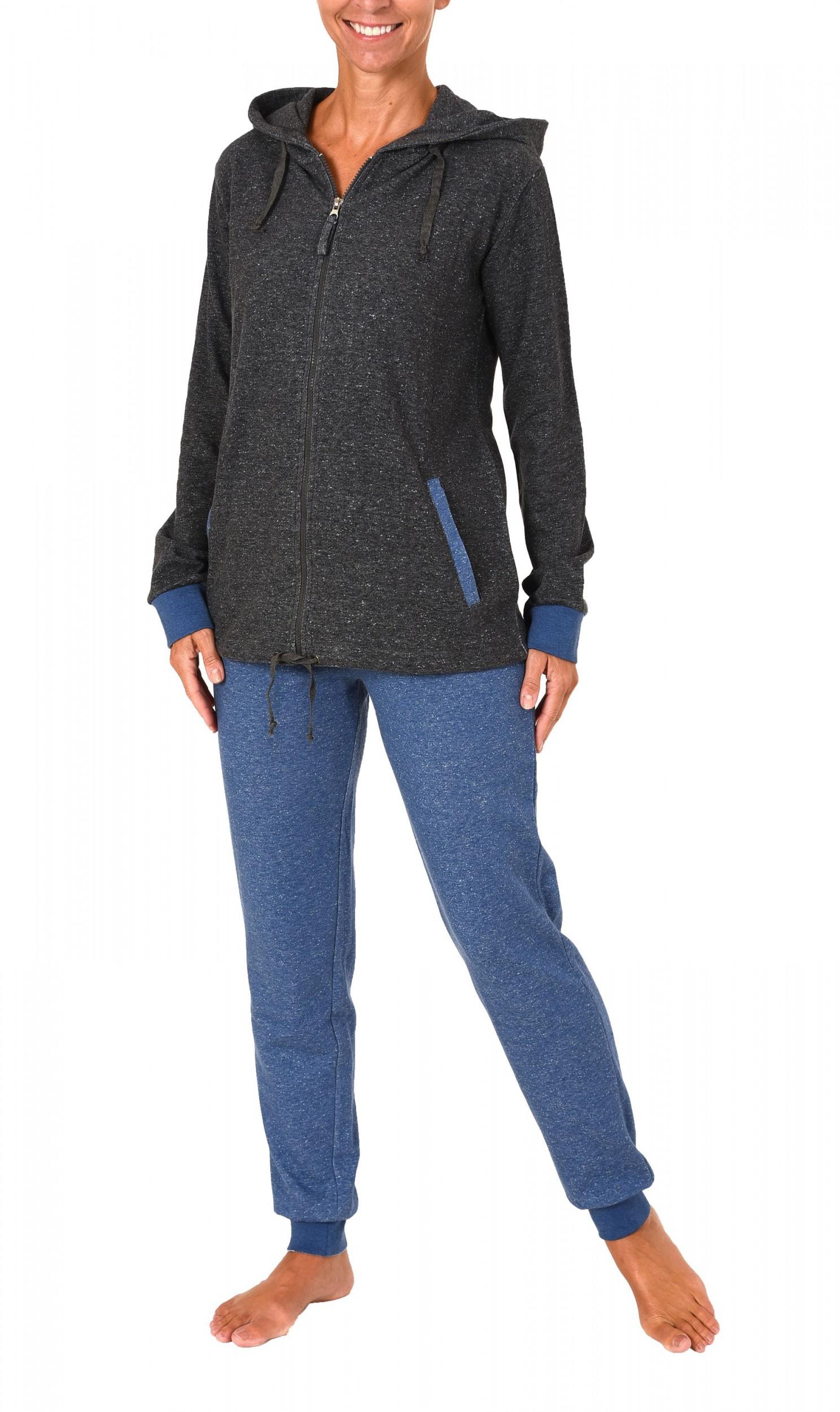 Chilliger Damen French Terry Hausanzug Homewear – auch in Übergrössen – 271 216 99 444 – Bild 2