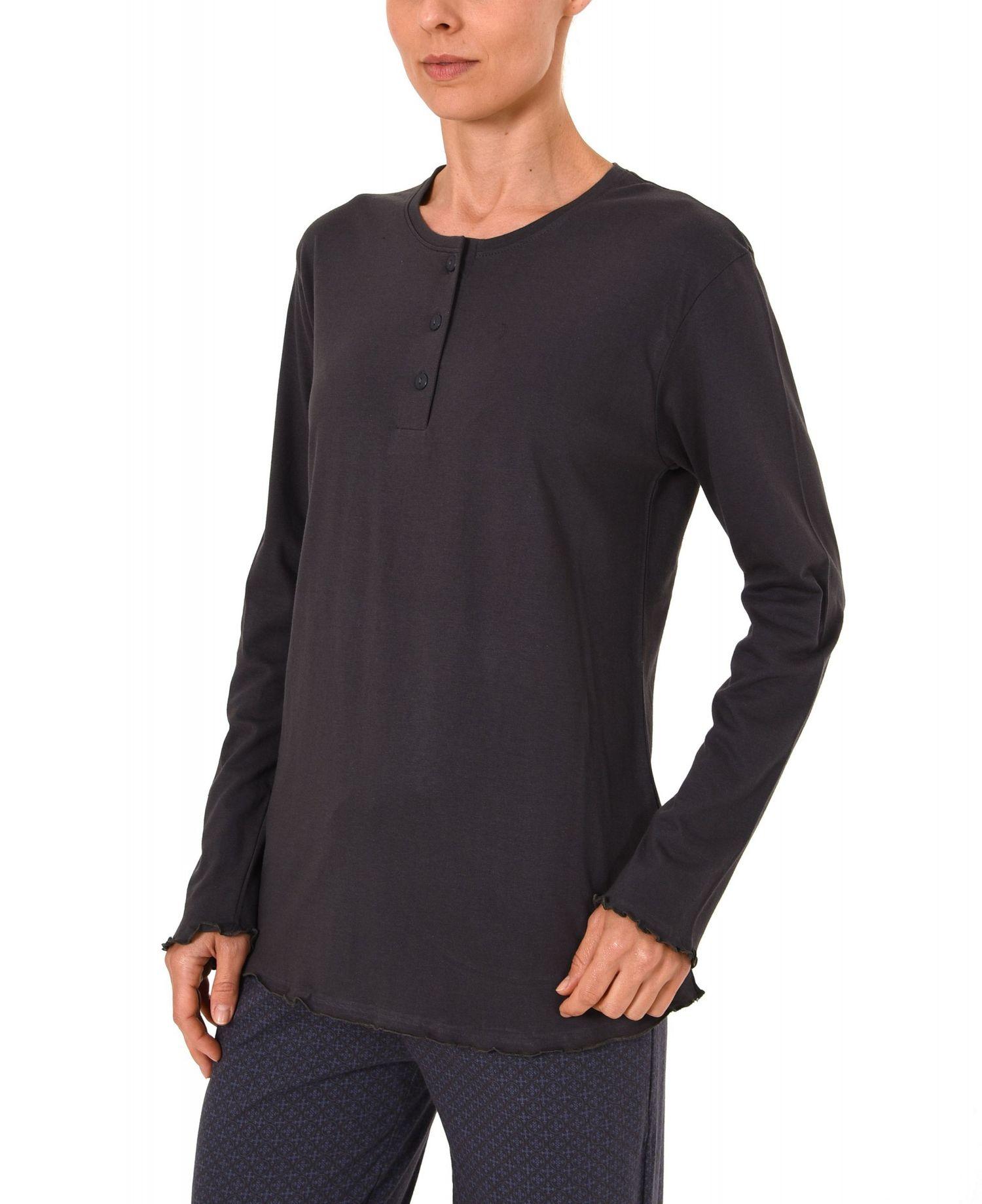 Damen Shirt - Oberteil langarm Mix & Match blau, grau oder beere – 271 219 90 102 – Bild 3