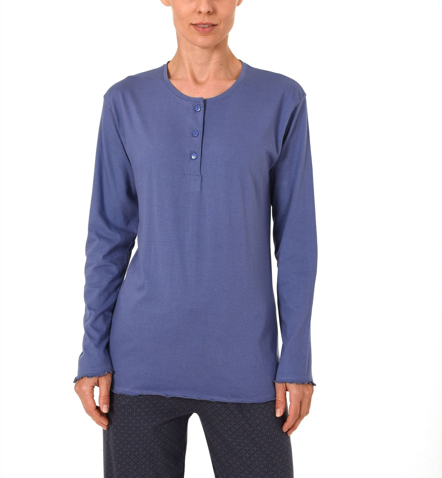 Damen Shirt - Oberteil langarm Mix & Match blau, grau oder beere – 271 219 90 102 – Bild 4