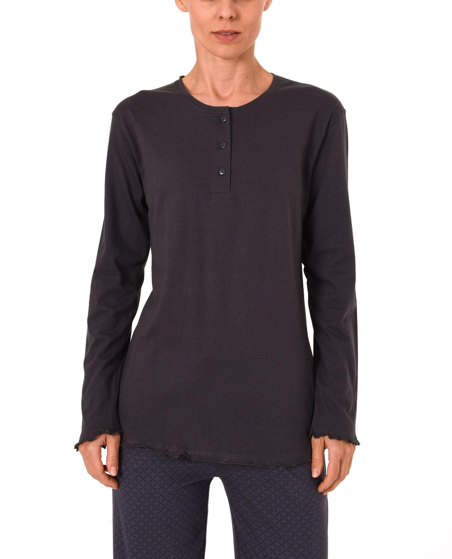 Damen Shirt - Oberteil langarm Mix & Match blau, grau oder beere – 271 219 90 102 – Bild 2