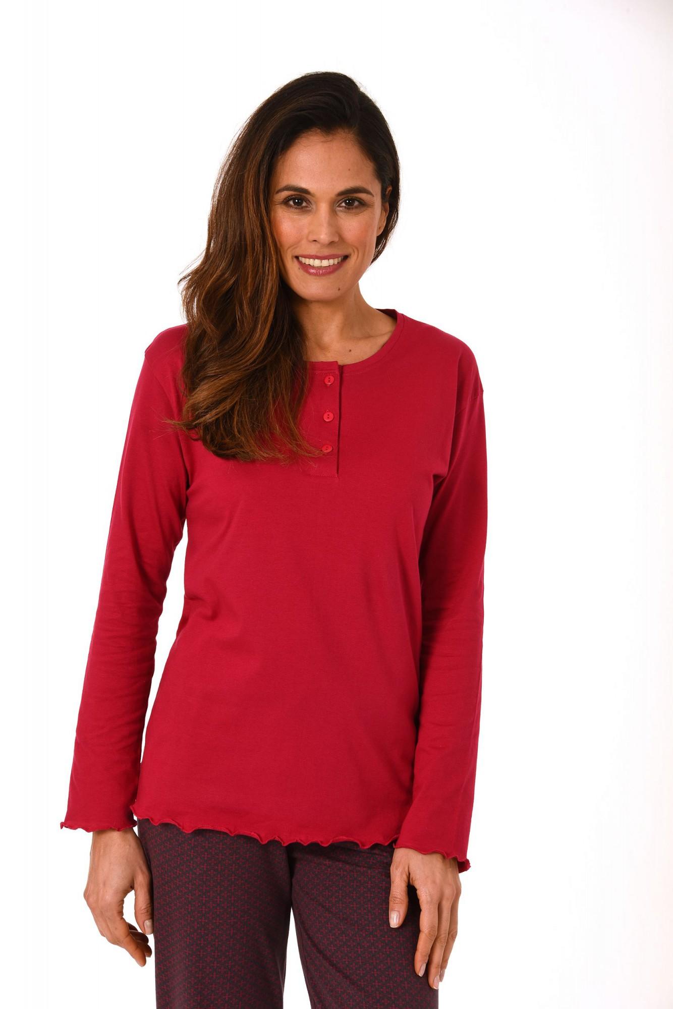 Damen Shirt - Oberteil langarm Mix & Match blau, grau oder beere – 271 219 90 102 – Bild 1