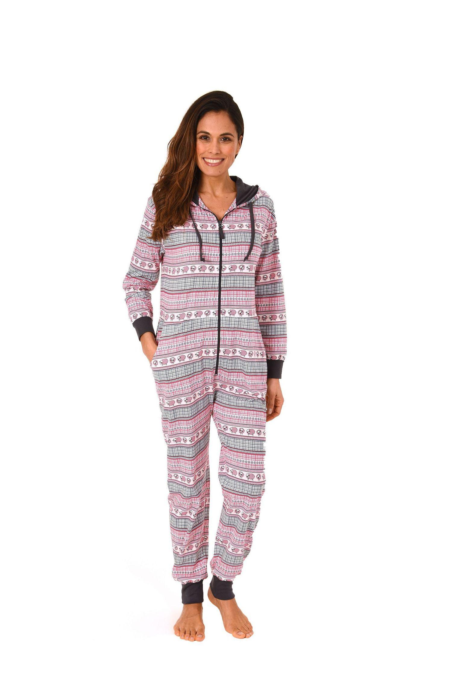 große Auswahl Großhandelspreis 2019 billiger Verkauf Damen Schlafanzug Einteiler Jumpsuit Overall langarm – auch in Übergrössen  – 267 90 418