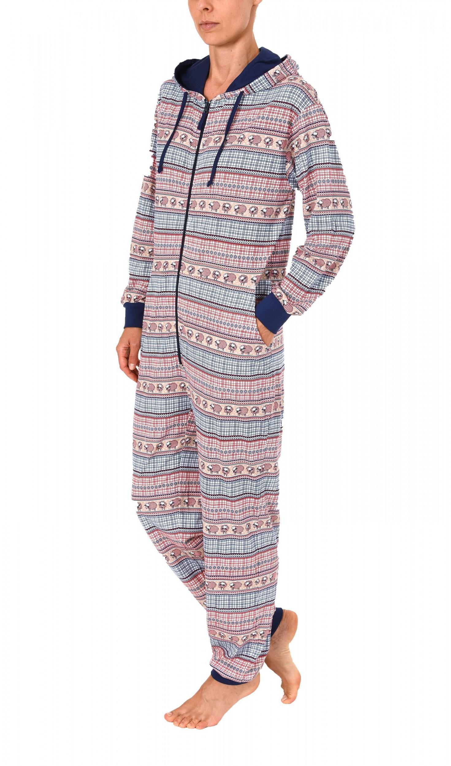 online retailer 0c1aa bb15e Damen Schlafanzug Einteiler Jumpsuit Overall langarm – auch in Übergrössen  – 267 90 418