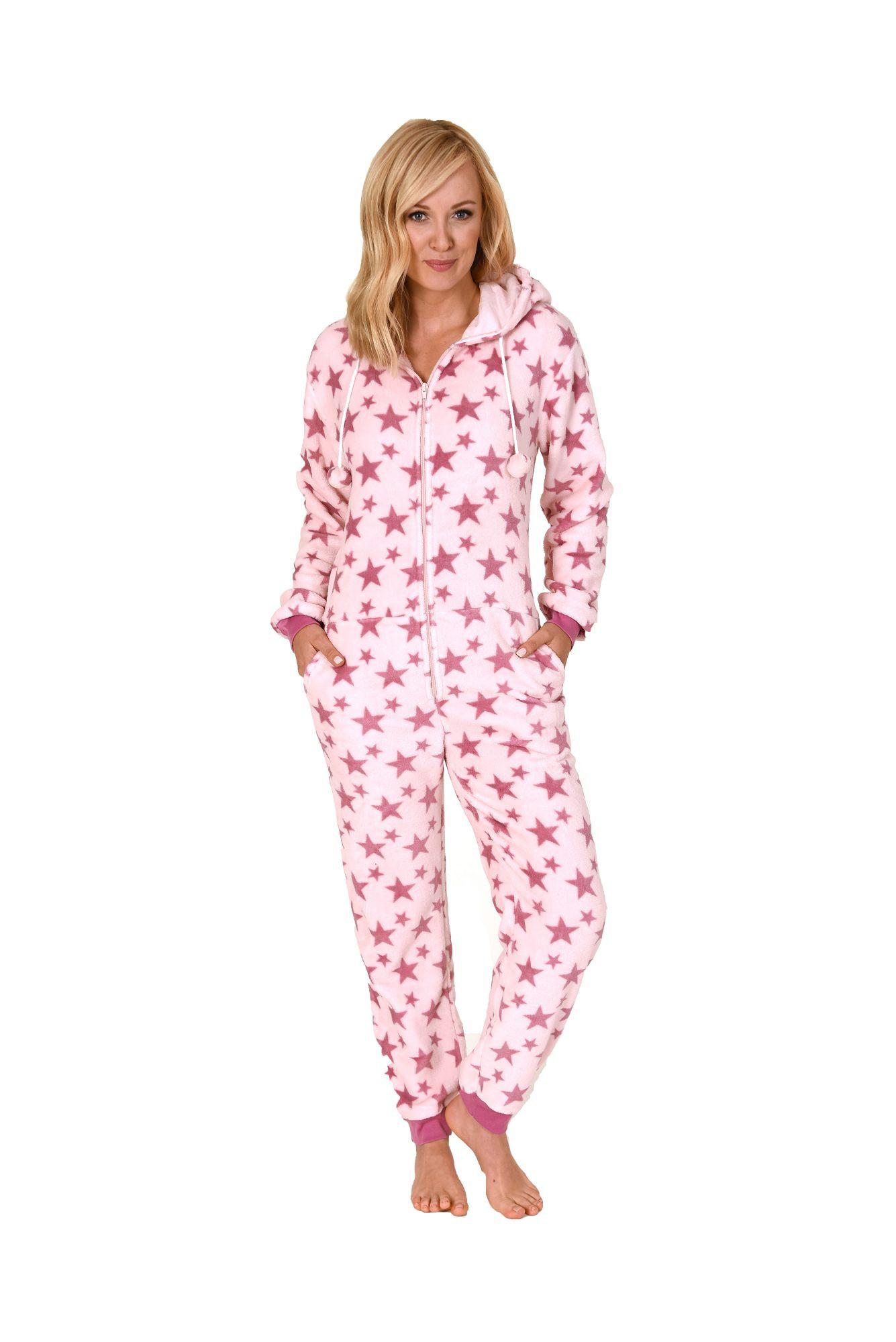 toller damen schlafanzug einteiler jumpsuit onesie overall langarm 271 267 97 001 w scheland. Black Bedroom Furniture Sets. Home Design Ideas