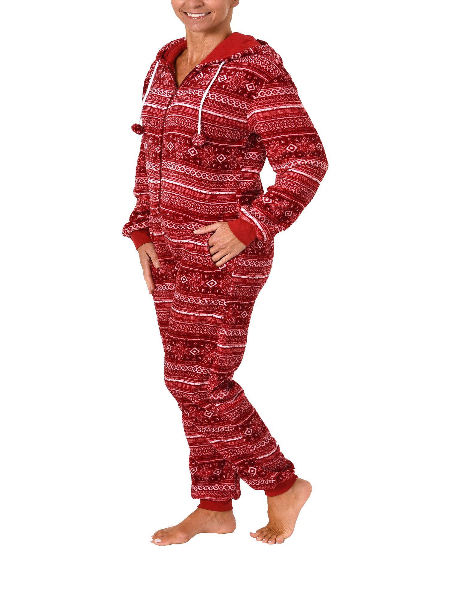 ästhetisches Aussehen weltweit verkauft billig zu verkaufen Damen Schlafanzug Einteiler Jumpsuit Onesie Overall langarm im Norweger  Look– 267 97 003