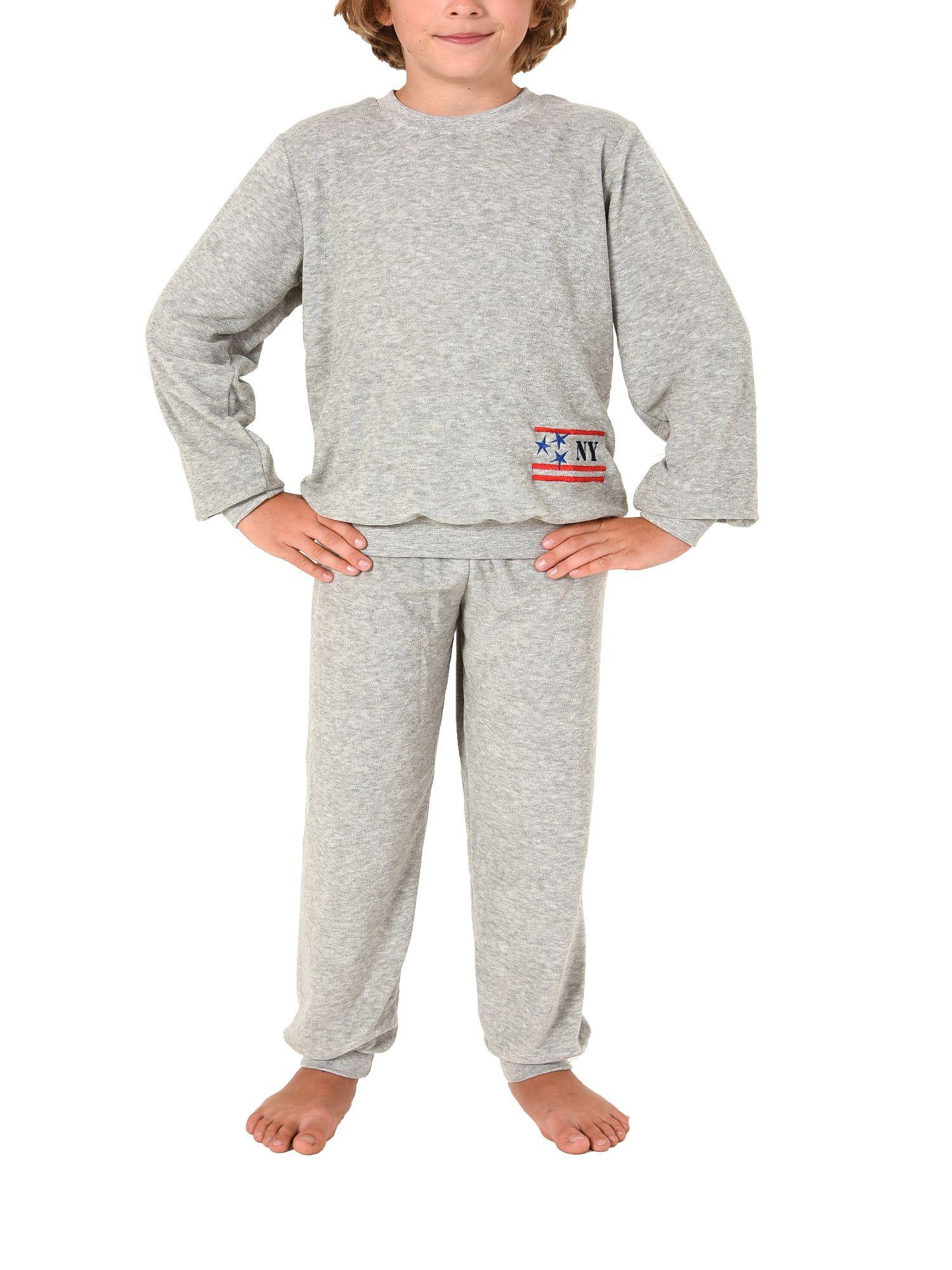 Jungen Frottee Pyjama langarm mit Bündchen -271 501 93 730