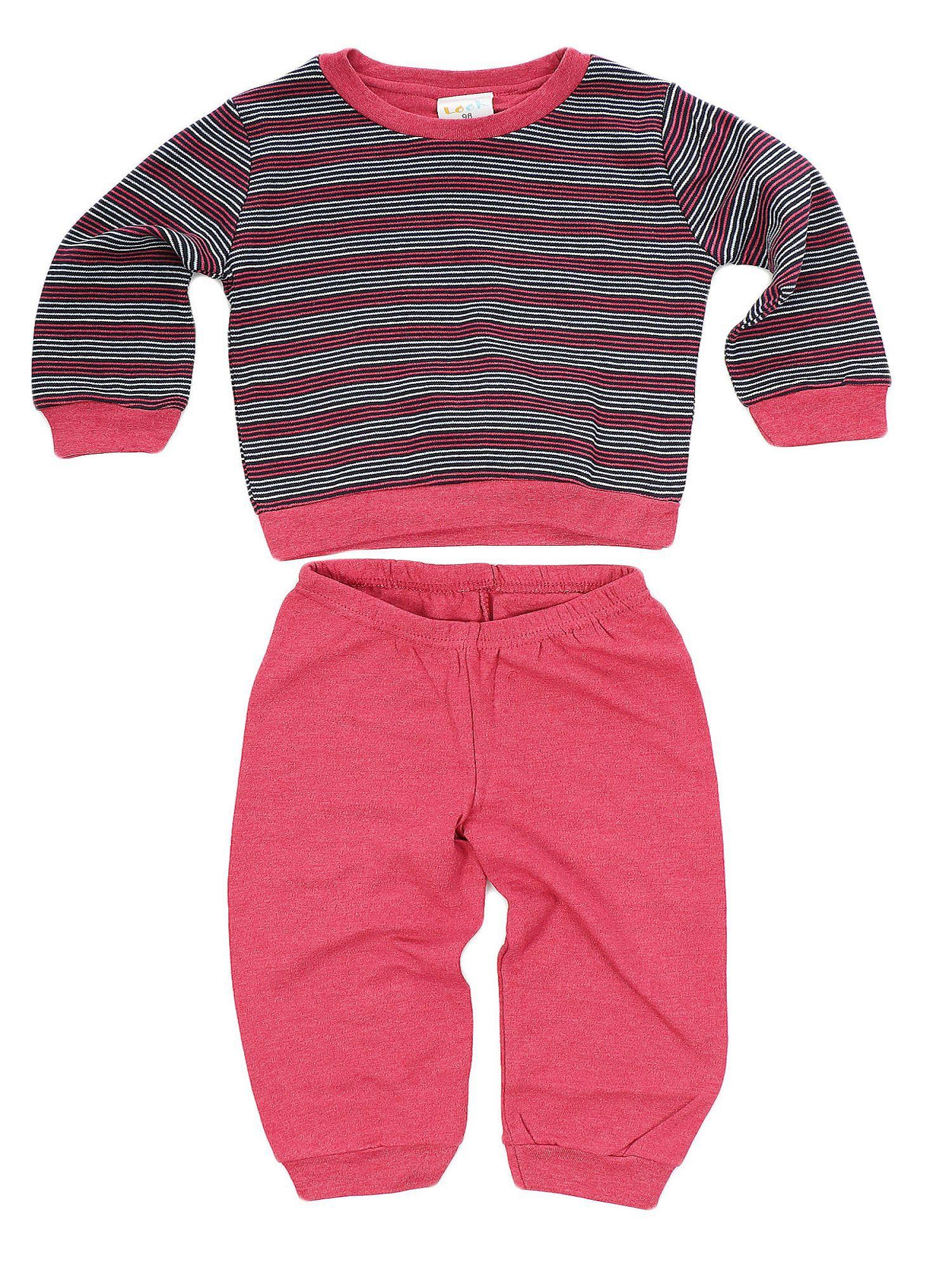 Jungen Kleinkinder Interlock Schlafanzug Pyjama mit Bündchen. Ringel Oberteil  57327