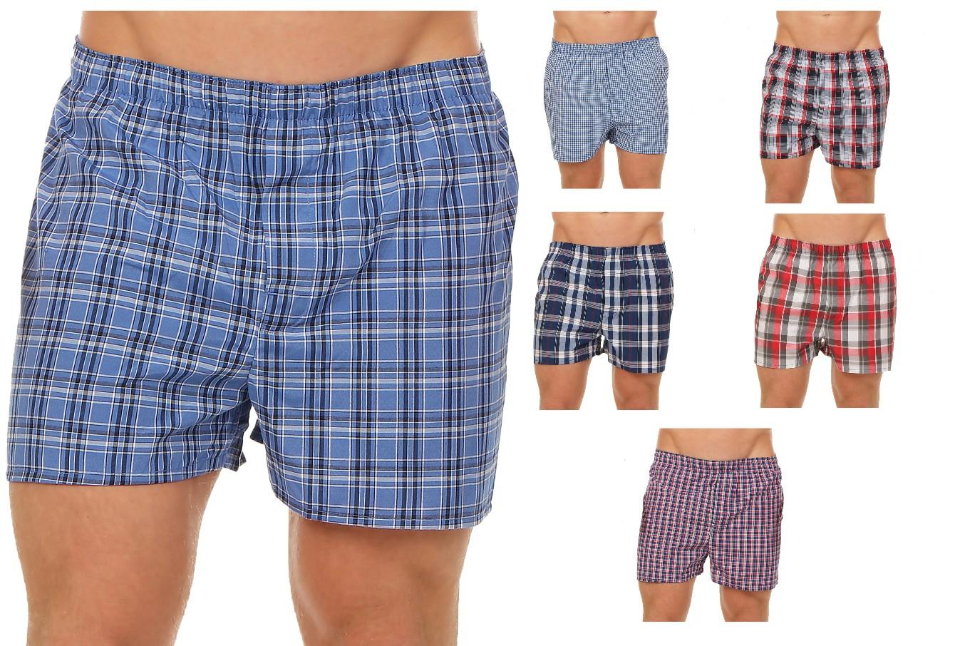 Herren Boxershorts American Style Karodesign Webboxer Shorts im 6er Pack 59542