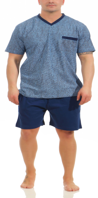 97c42ca7ee Herren Shorty Pyjama kurz von NORMANN in grau oder marine – 181 105 90 522