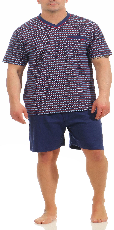 Eleganter Herren Shorty Pyjama – auch in Übergrössen bis Gr. 70 - 181 105 90 528 – Bild 2