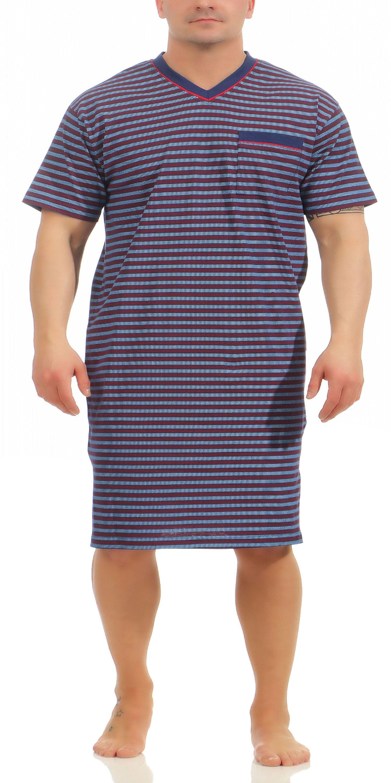 sehr günstig Neuankömmlinge retro Normann Herren Nachthemd kurzarm auch in Übergrössen erhältlich 181 111 90  528