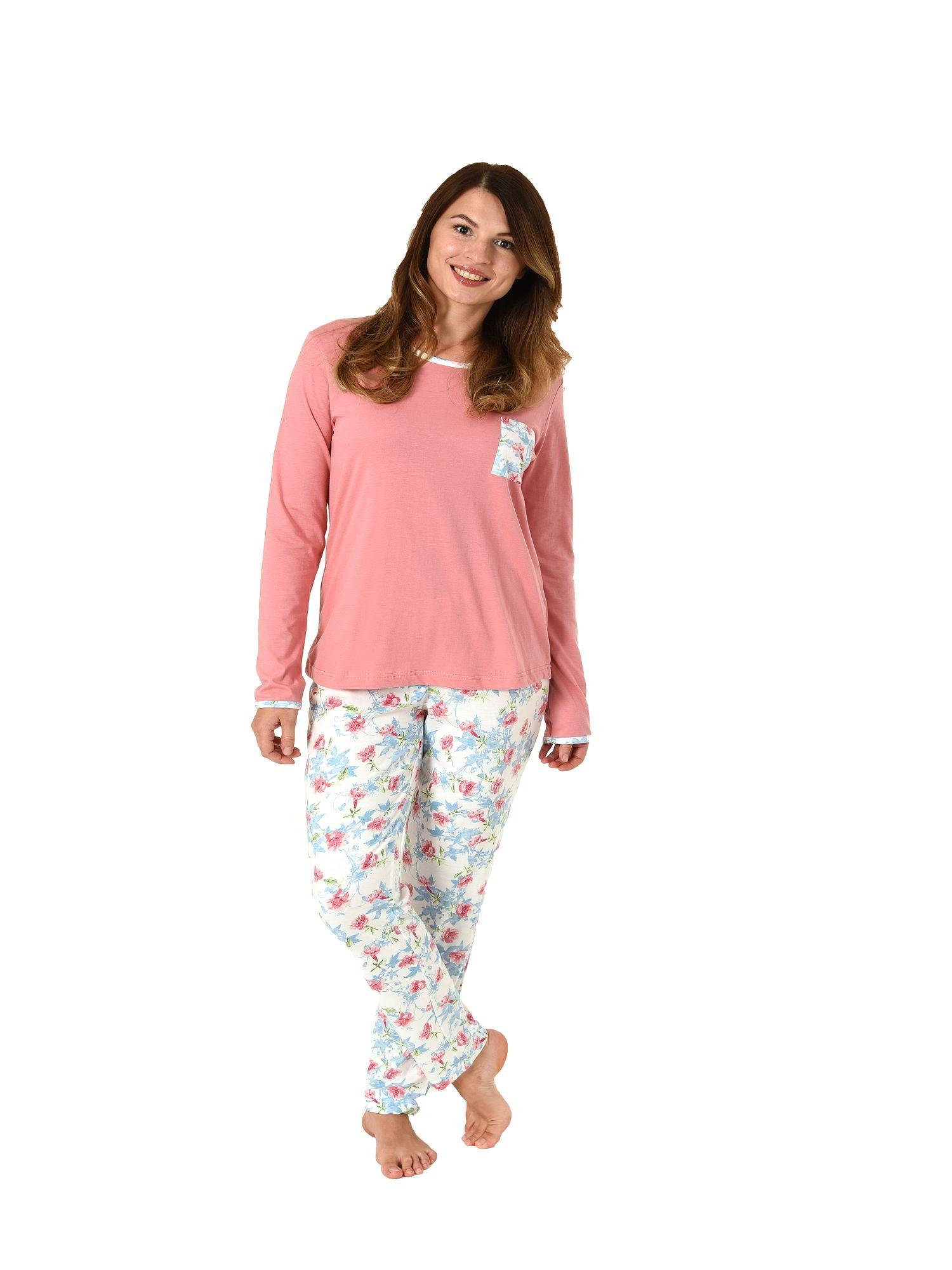 newest 52044 bc4c9 Normann Damen Pyjama Schlafanzug langarm 181 201 90 302