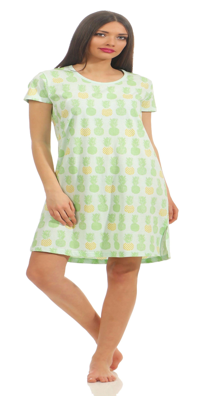 Normann Damen Nachthemd mit Ananas als Motiv 181 214 90 104 – Bild 3