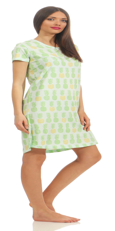 Normann Damen Nachthemd mit Ananas als Motiv 181 214 90 104 – Bild 4