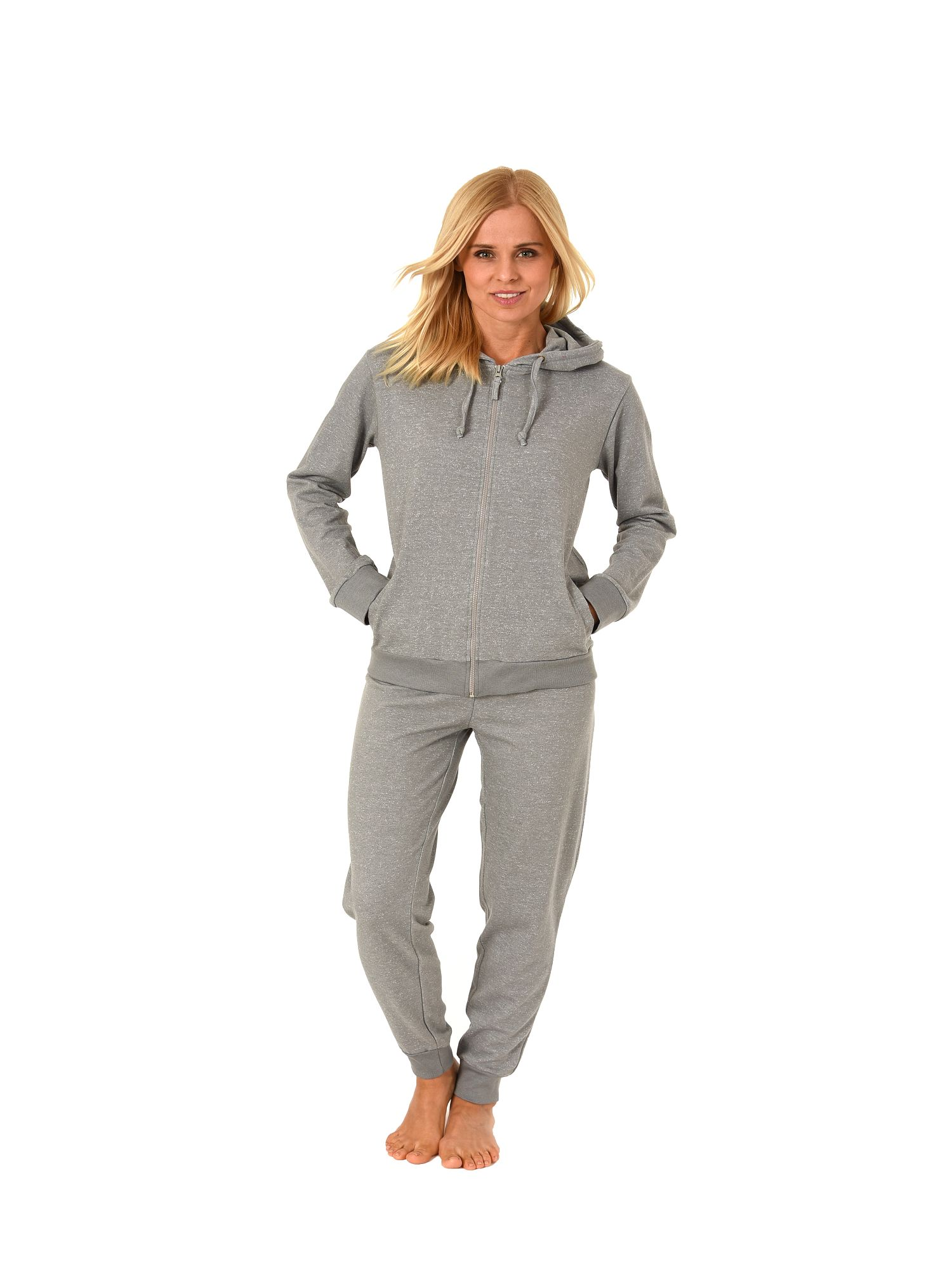 Normann Damen Hausanzug Jogginganzug mit Kapuze French Terry 181 216 99 906 – Bild 1