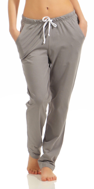 Damen Pyjama Hose lang- Mix & Match – unifarben- ideal zum kombinieren  222 90 902 – Bild 1