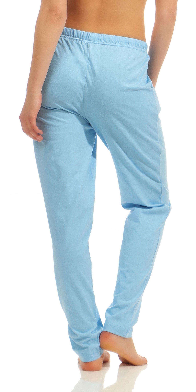 Damen Pyjama Hose lang- Mix & Match – unifarben- ideal zum kombinieren  222 90 902 – Bild 6