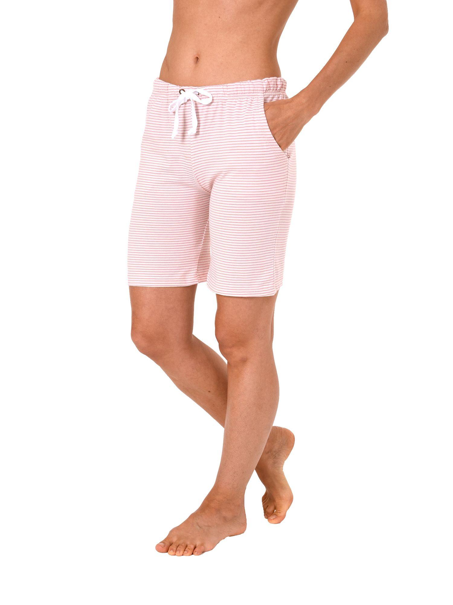 Damen Bermuda Pyjamahose kurz gestreift Mix & Match ideal zum kombinieren 181 224 90 903