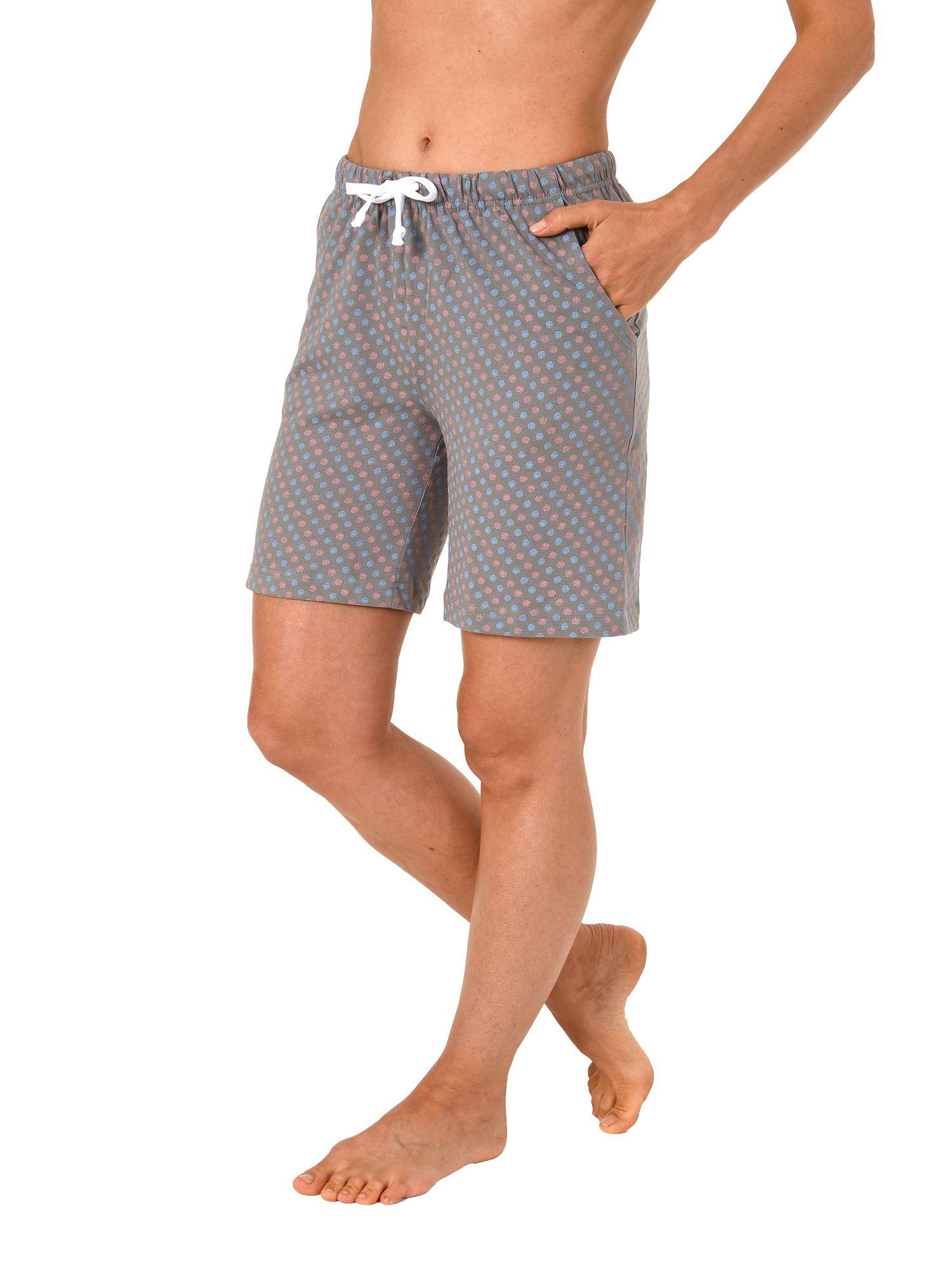 Damen Bermuda Pyjamahose kurz Tupfen Mix /& Match ideal zum kombinieren  90 904
